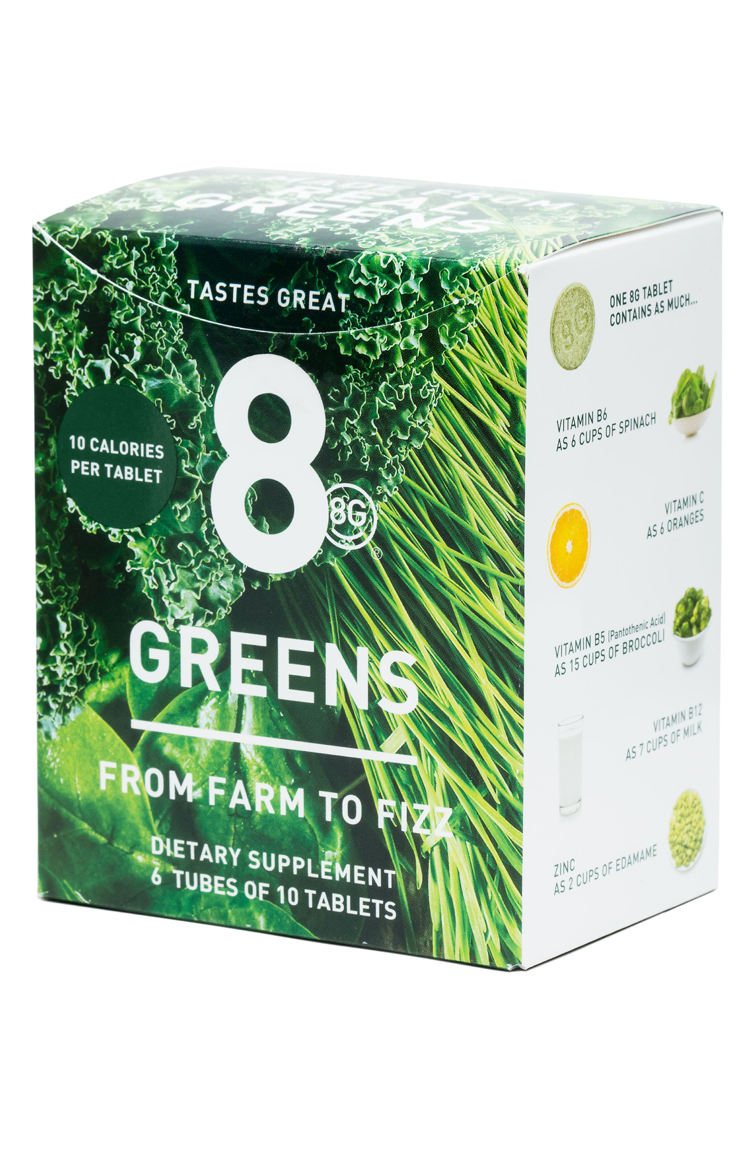 8G, Greens 6-Pack Dietary Supplement, Alternate thumbnail 4, color, NO COLOR