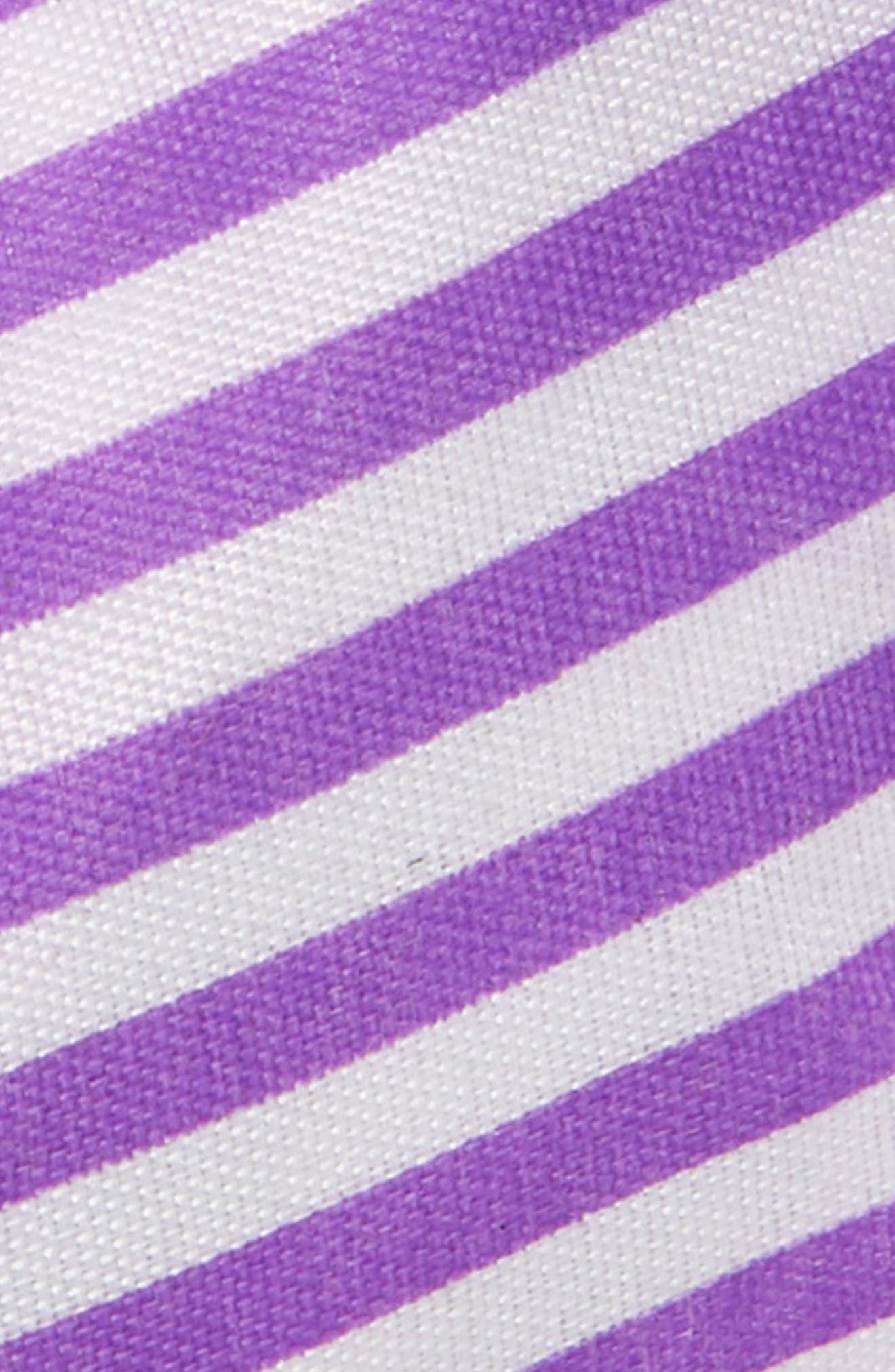 TASHA, Knotted Stripe Bow Headband, Alternate thumbnail 2, color, LAVENDER/ WHITE