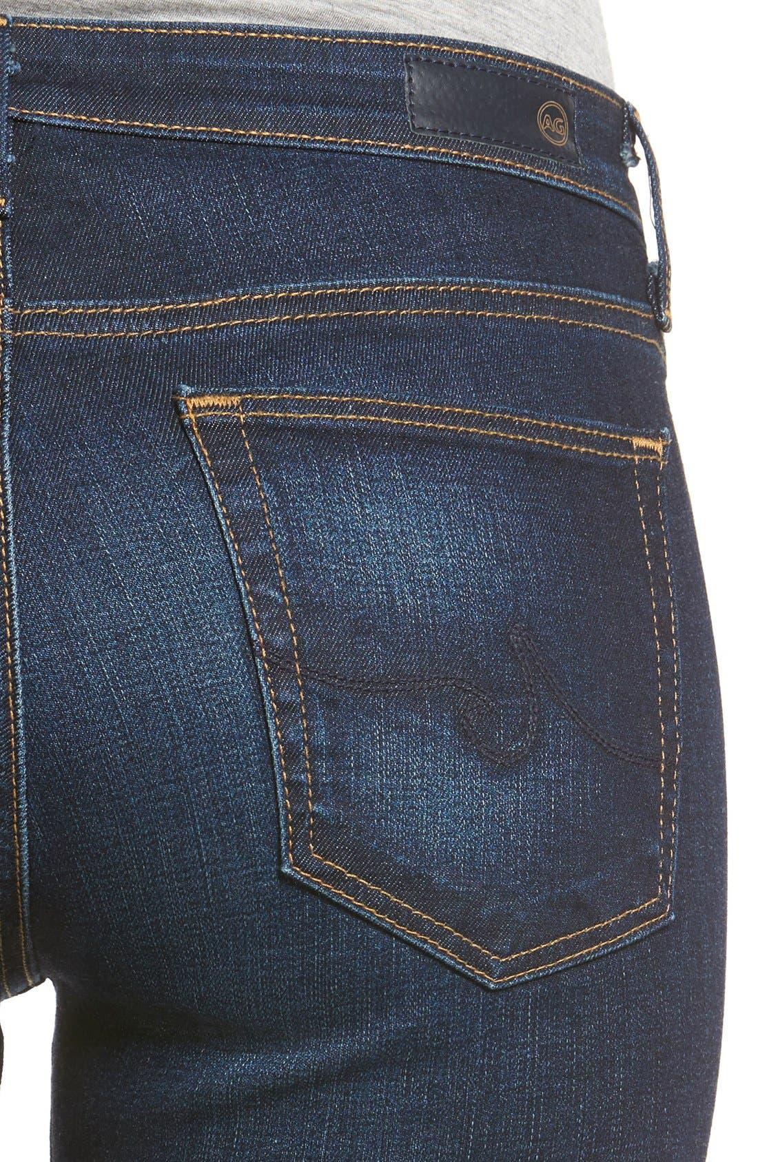 AG, Harper Slim Straight Leg Jeans, Alternate thumbnail 4, color, SMITTEN