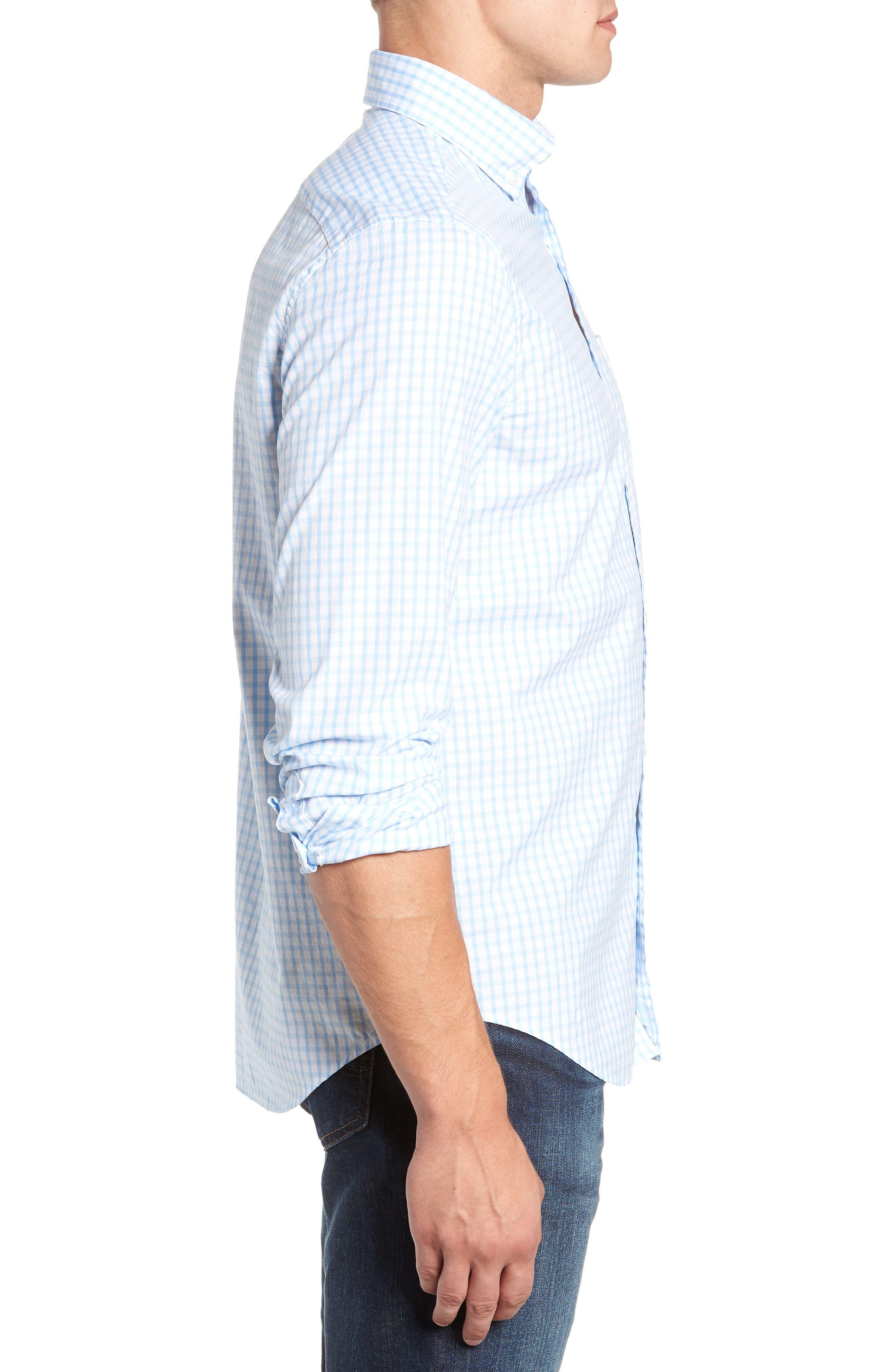 VINEYARD VINES, Micro Graph Classic Fit Check Sport Shirt, Alternate thumbnail 2, color, OCEAN BREEZE