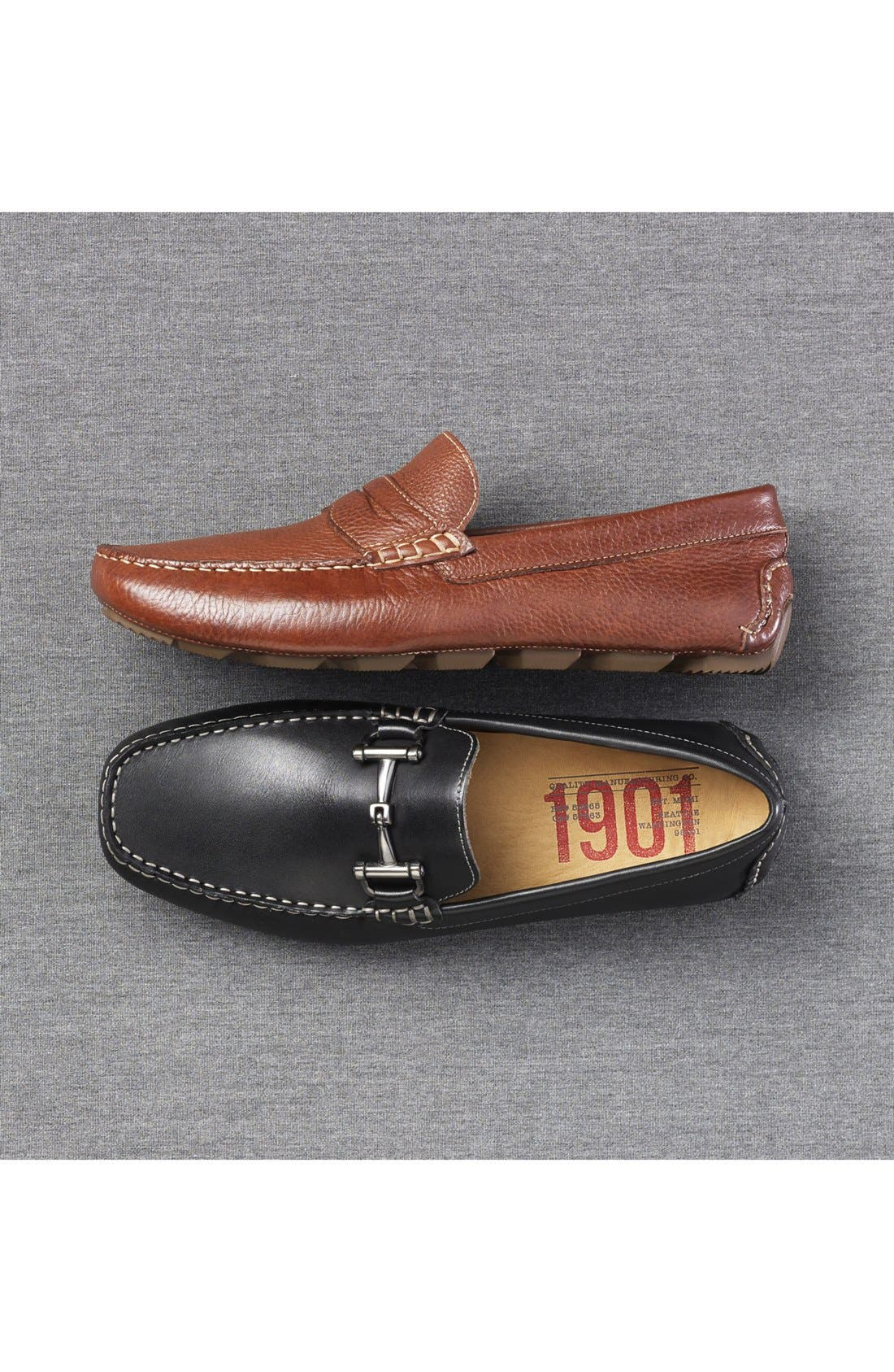 1901, Marco Driving Shoe, Alternate thumbnail 7, color, BLACK LEATHER