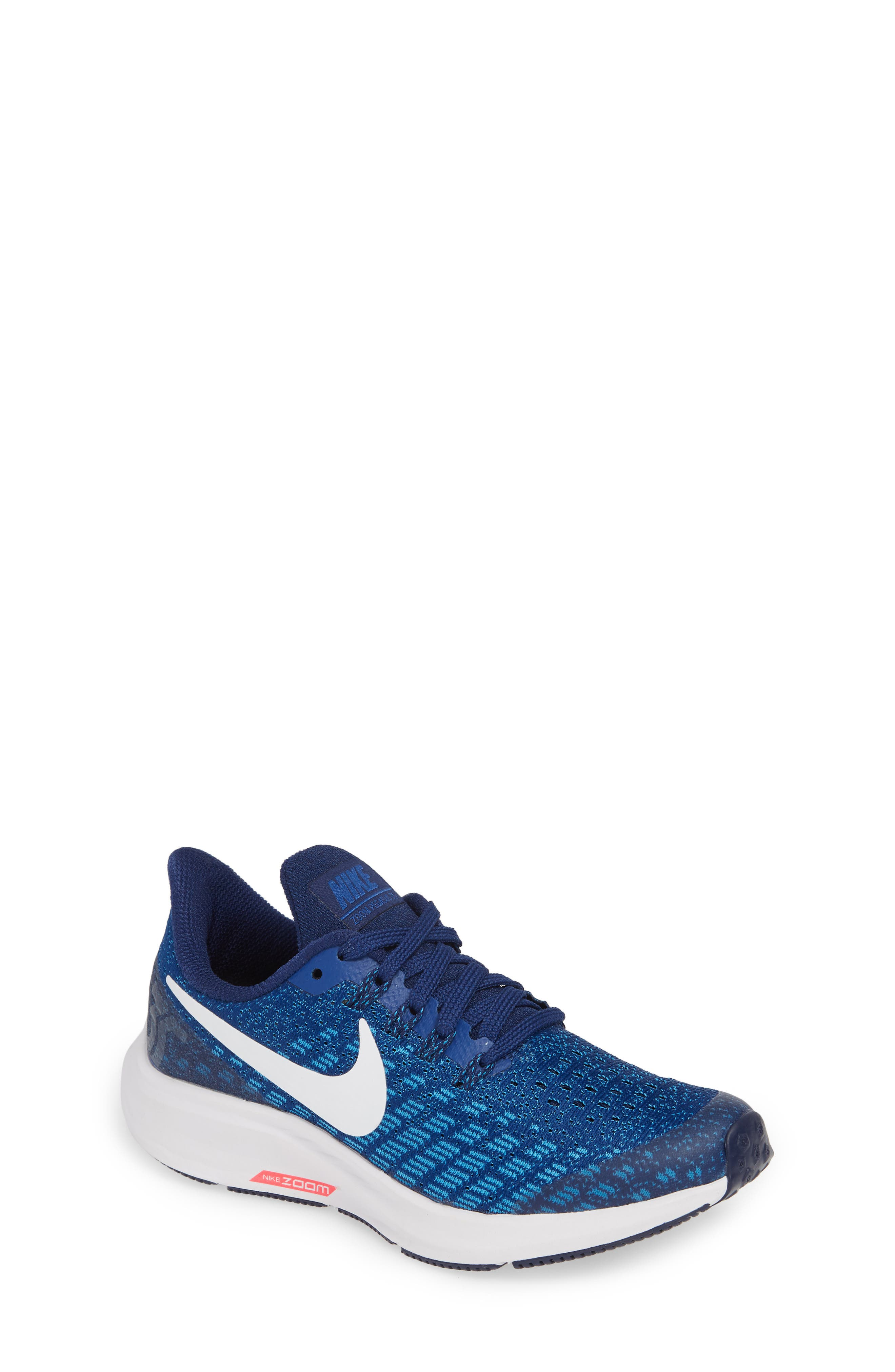 NIKE, Air Zoom Pegasus 35 Sneaker, Main thumbnail 1, color, INDIGO FORCE/ WHITE-BLUE-BLUE