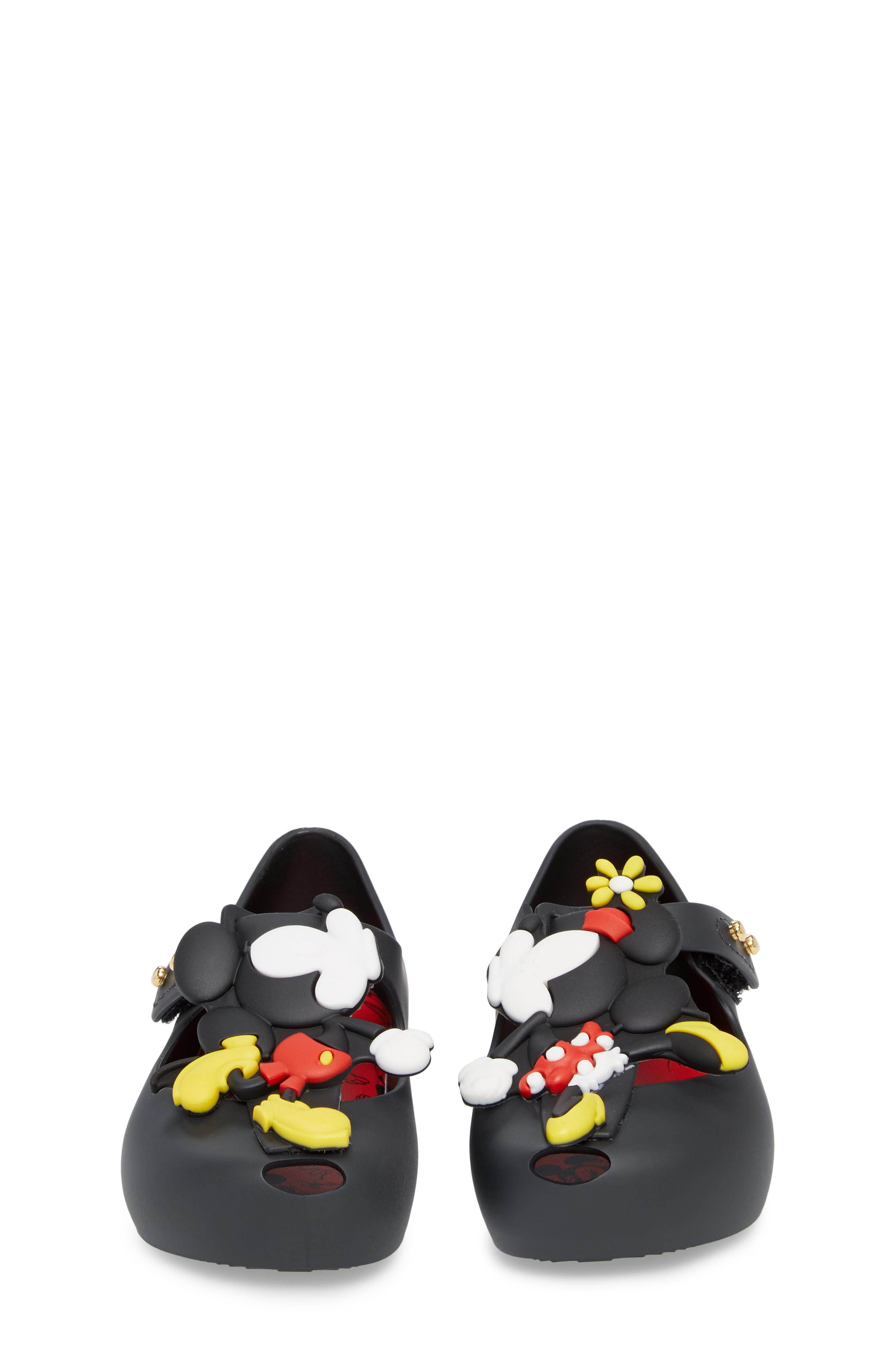 MINI MELISSA, Ultragirl Disney Twins Waterproof Mary Jane, Alternate thumbnail 5, color, 001