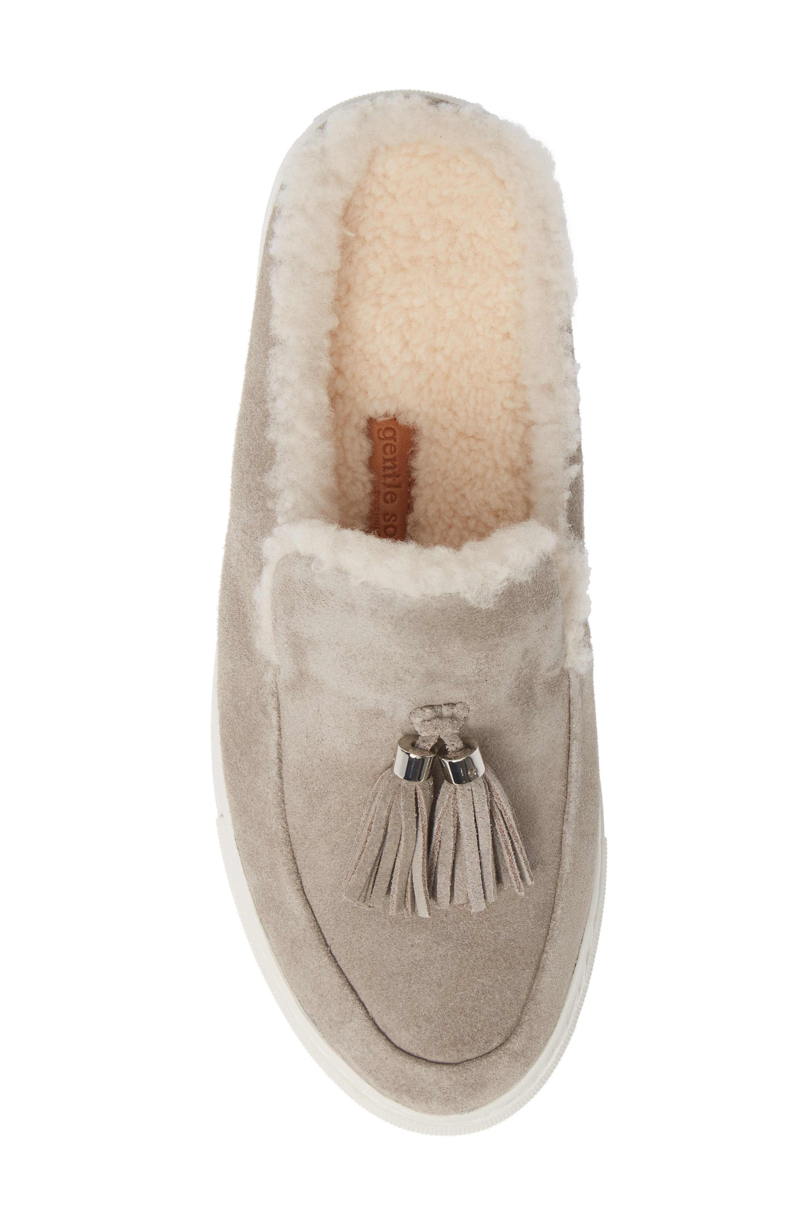 GENTLE SOULS BY KENNETH COLE, Rory Loafer Mule, Alternate thumbnail 5, color, STONE NUBUCK LEATHER