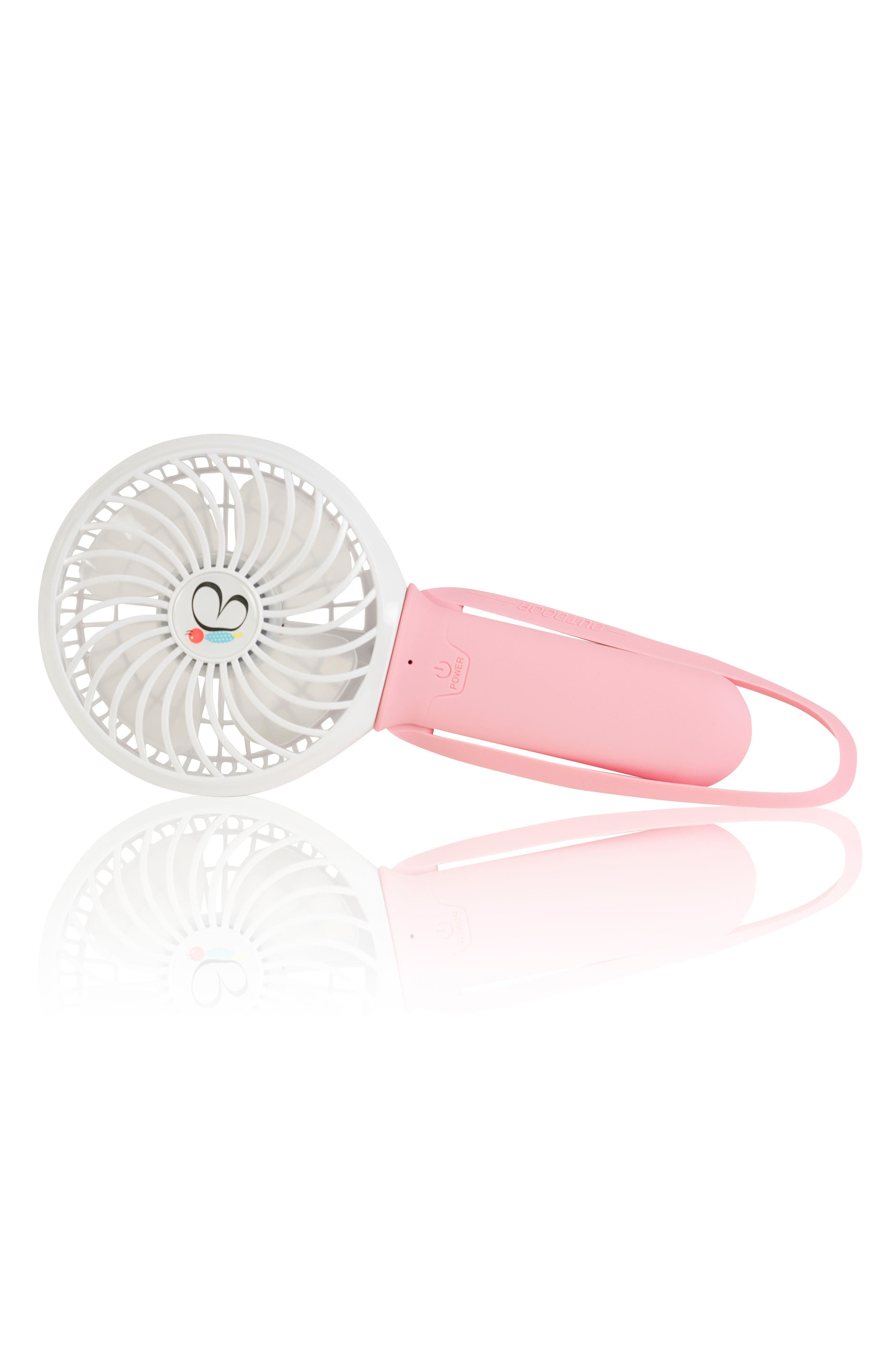 NIKIANI USB Rechargeable Turbo Fan, Main, color, PINK/ WHITE