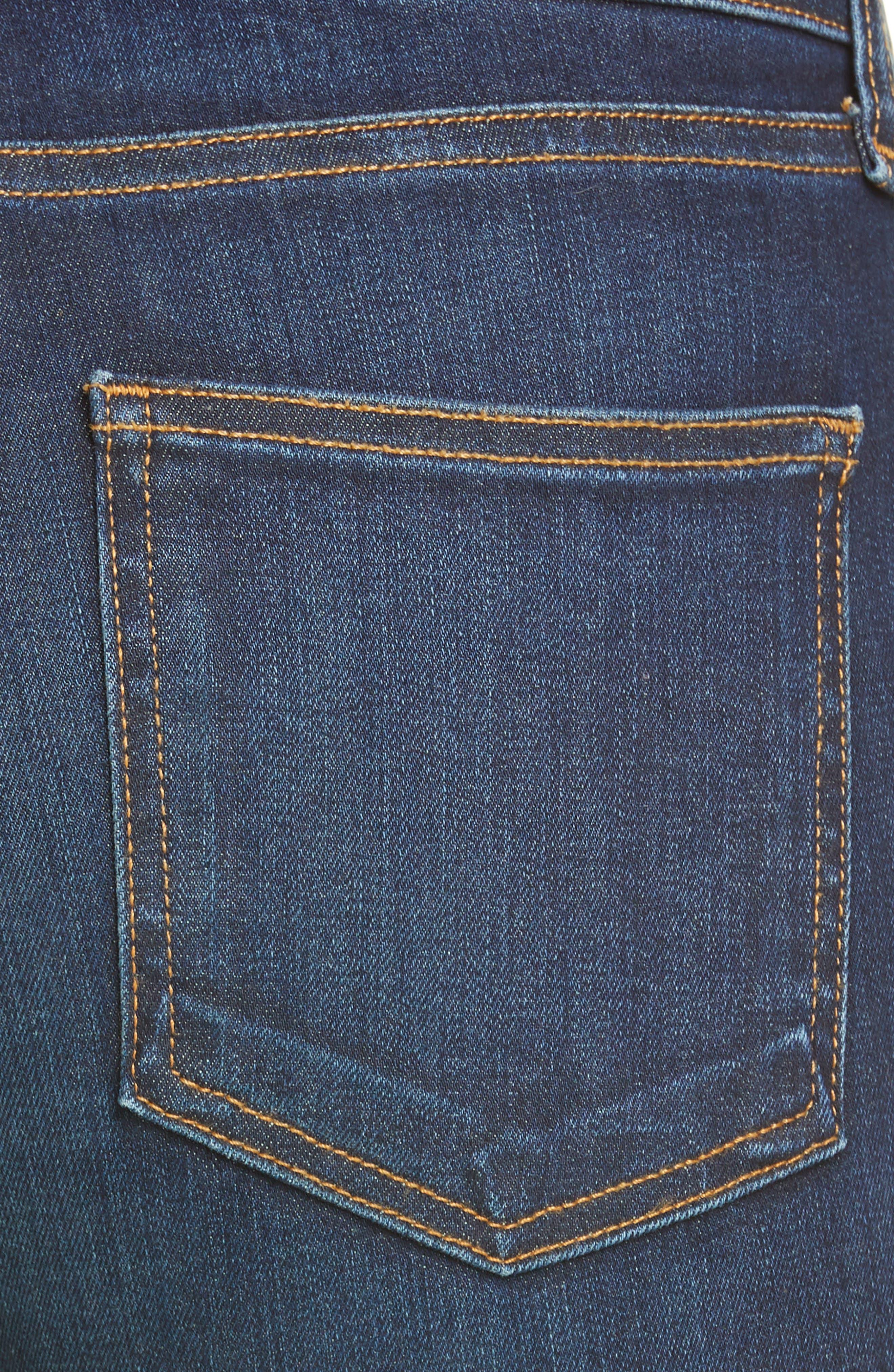 VERONICA BEARD, Carolyn Side Vent Baby Boot Jeans, Alternate thumbnail 6, color, DARK VINTAGE