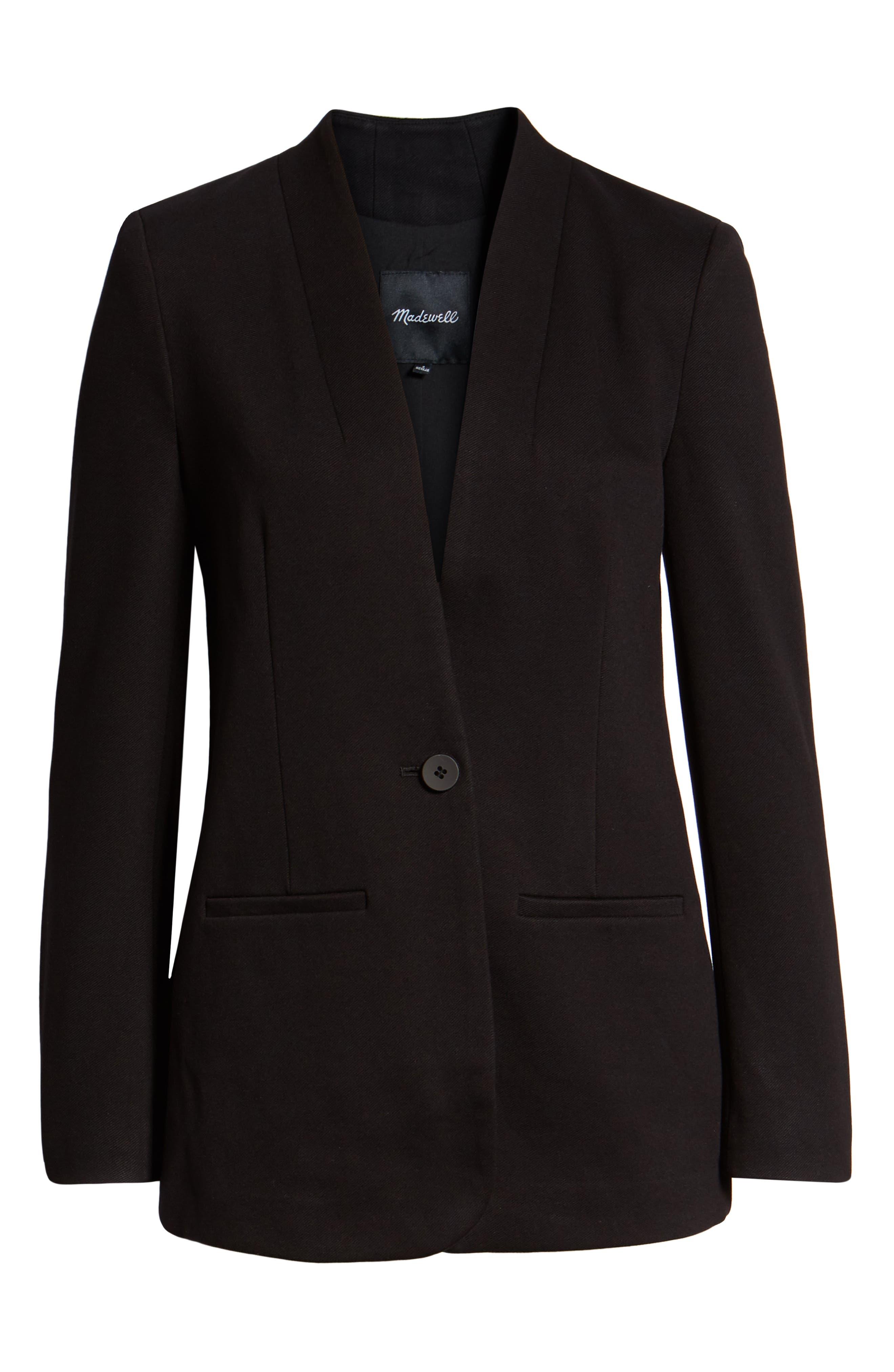 MADEWELL Tribune Blazer, Main, color, TRUE BLACK