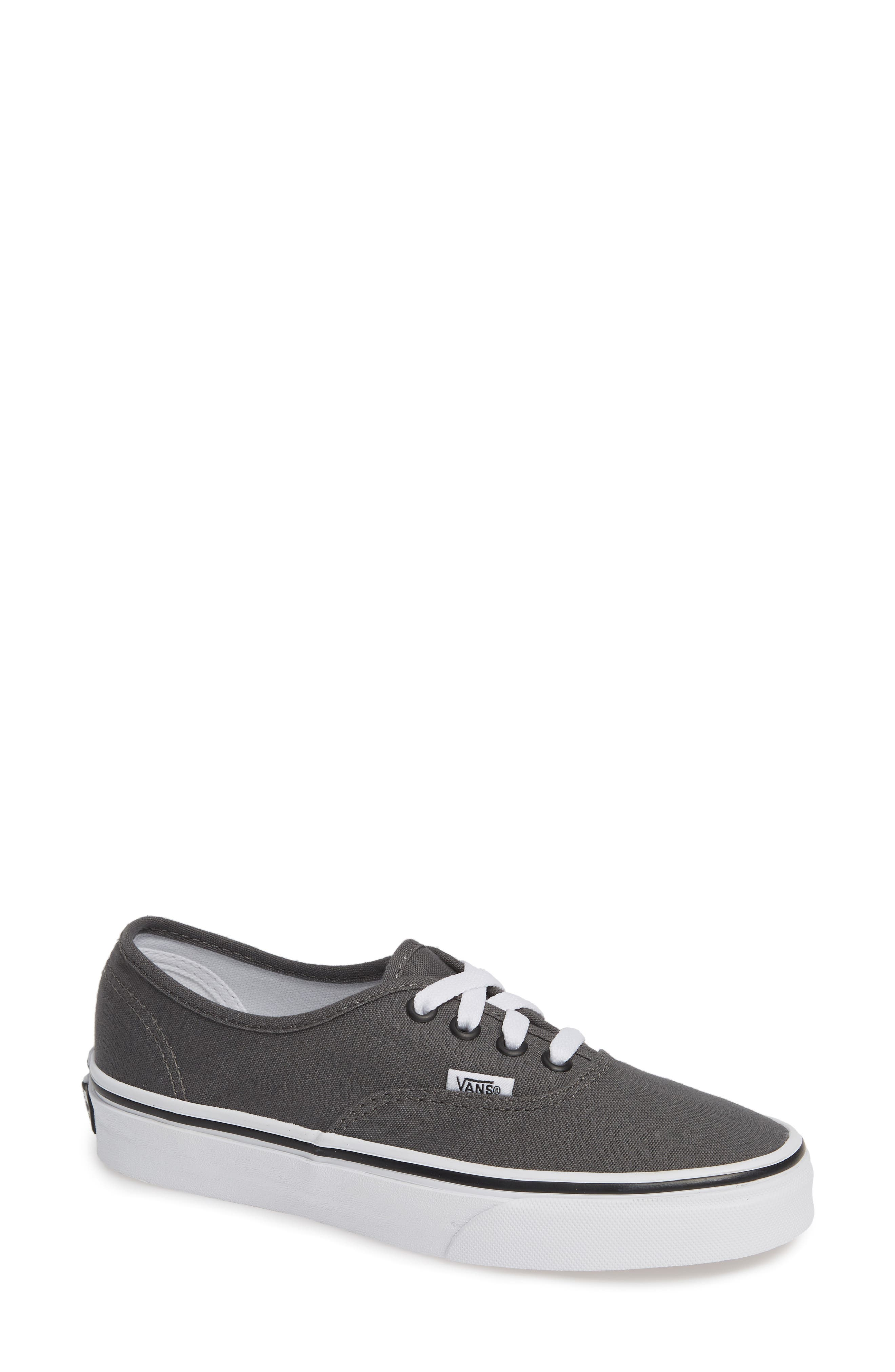 VANS, 'Authentic' Sneaker, Alternate thumbnail 2, color, PEWTER/BLACK