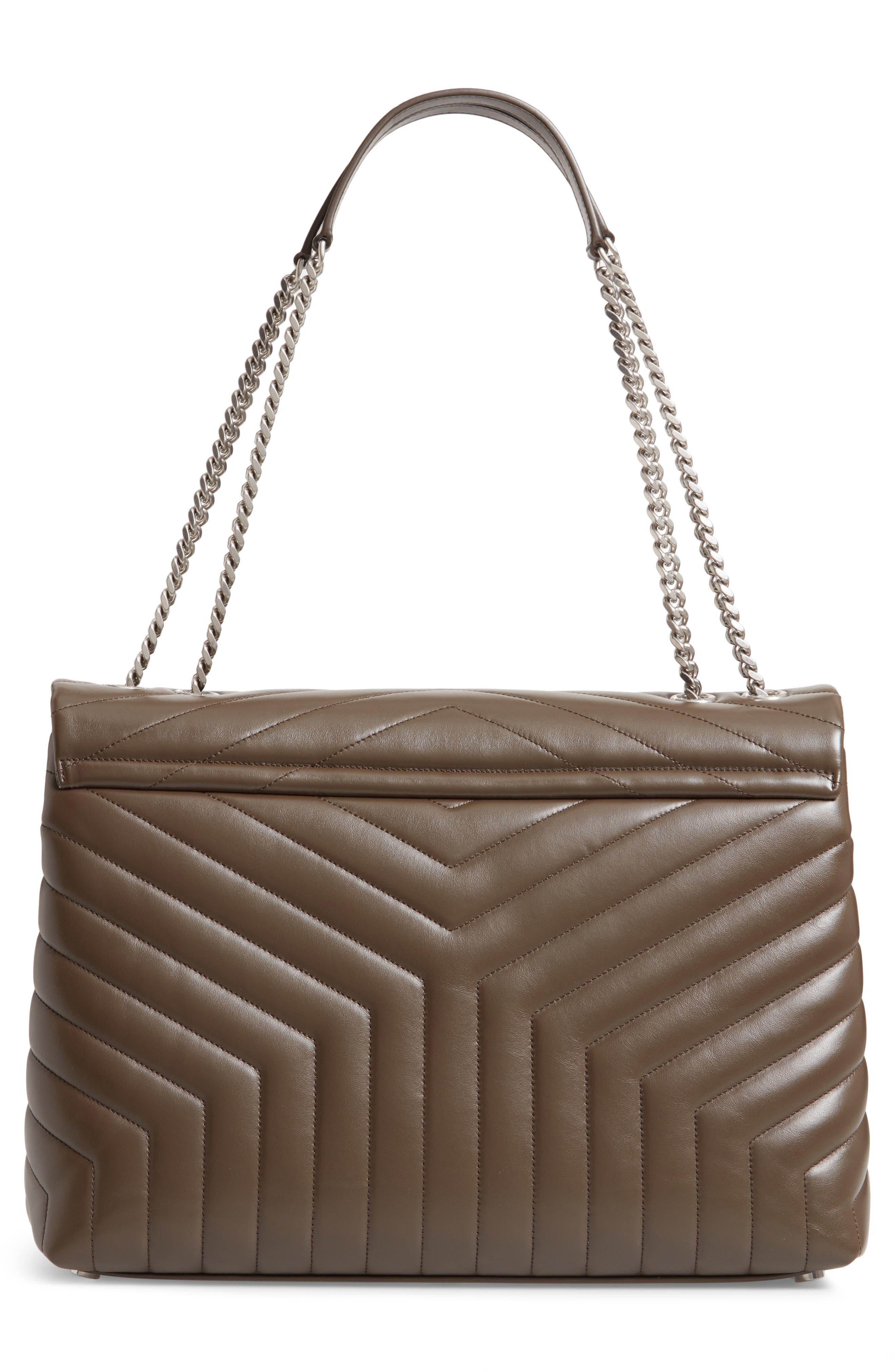 SAINT LAURENT, Large Loulou Matelassé Leather Shoulder Bag, Alternate thumbnail 3, color, FAGGIO/ FAGGIO