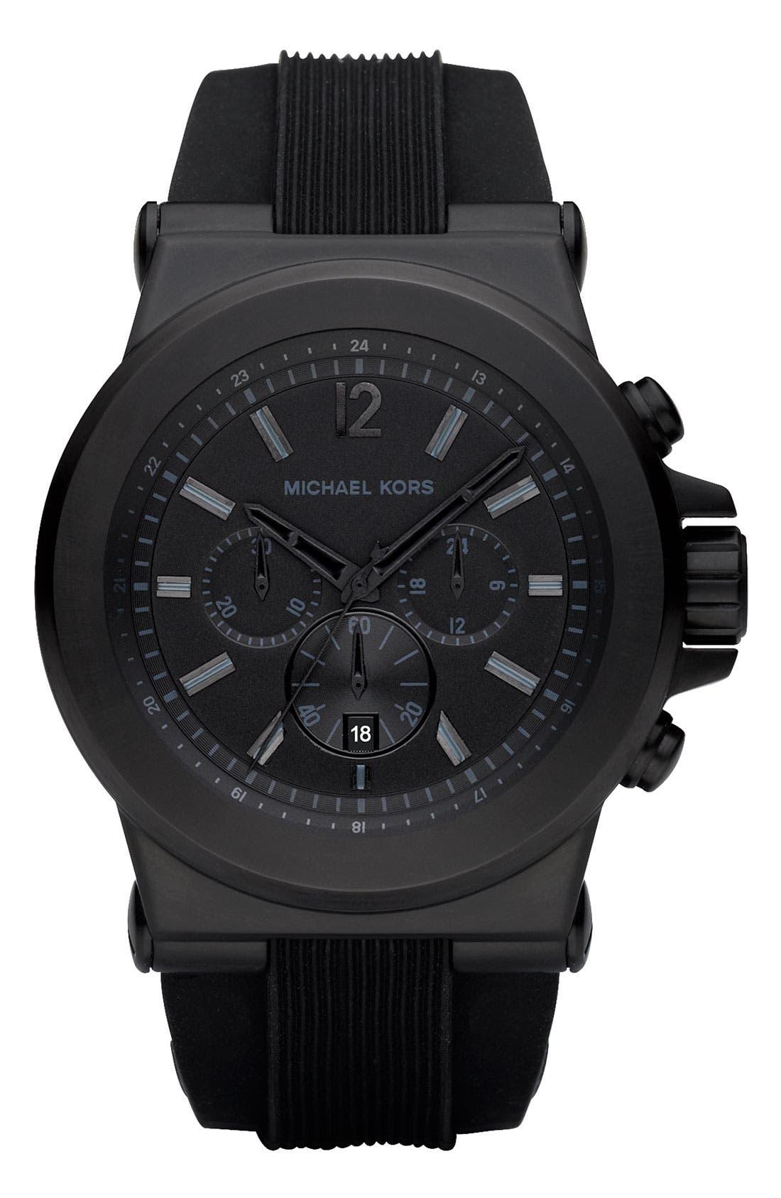 MICHAEL KORS, Chronograph Watch, 45mm, Main thumbnail 1, color, 001
