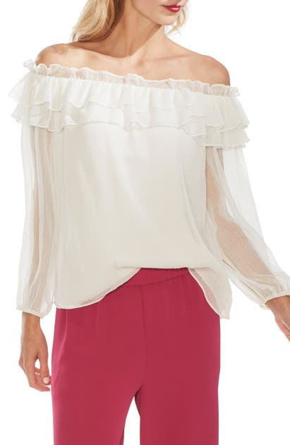 Vince Camuto Tops RUFFLE OFF THE SHOULDER TOP
