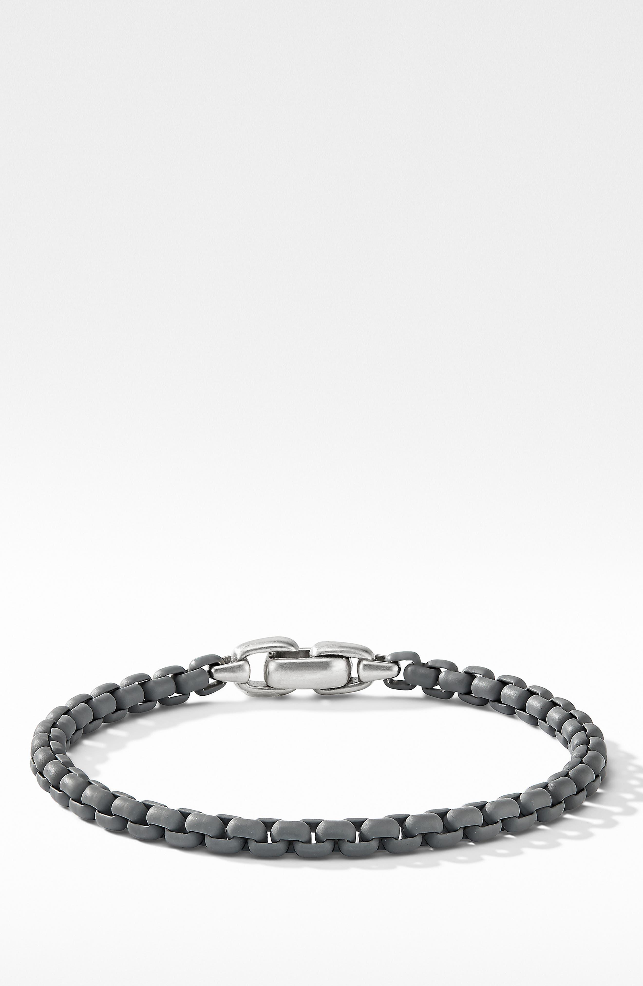 DAVID YURMAN, Box Chain Bracelet, Alternate thumbnail 2, color, GREY