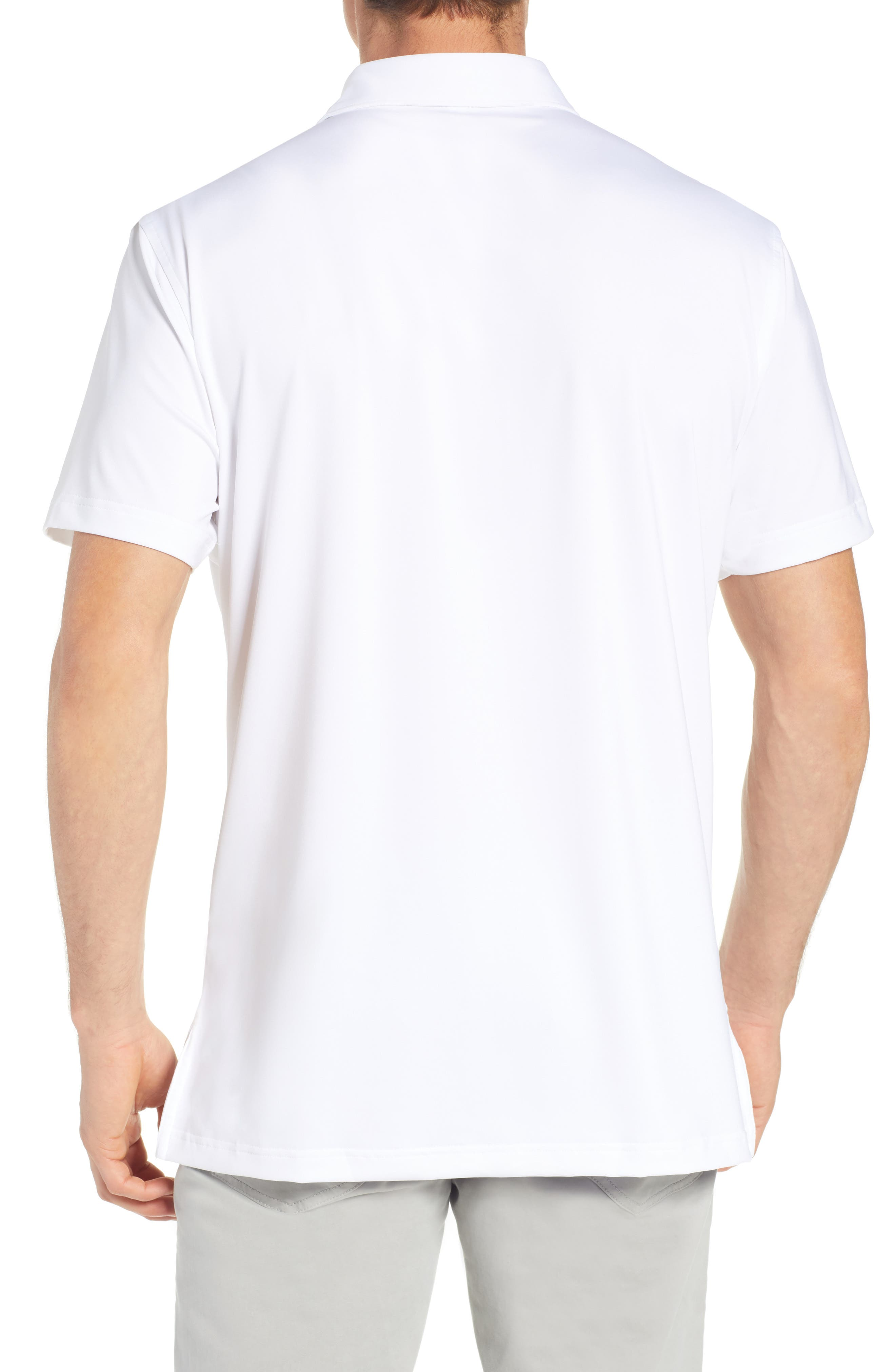 PETER MILLAR, Sean Regular Fit Stretch Jersey Polo, Alternate thumbnail 2, color, WHITE