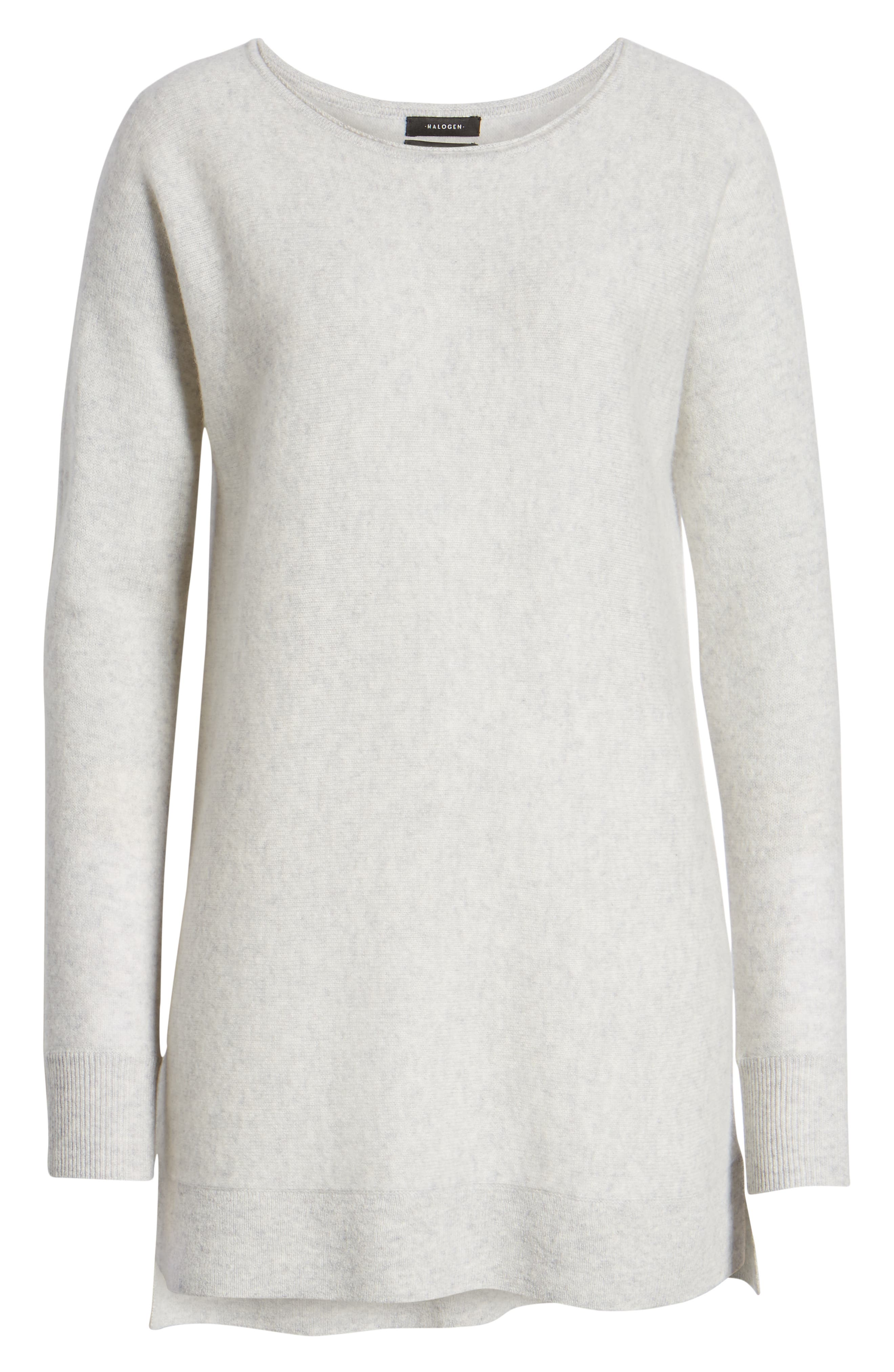 HALOGEN<SUP>®</SUP>, High/Low Wool & Cashmere Tunic Sweater, Alternate thumbnail 6, color, 023