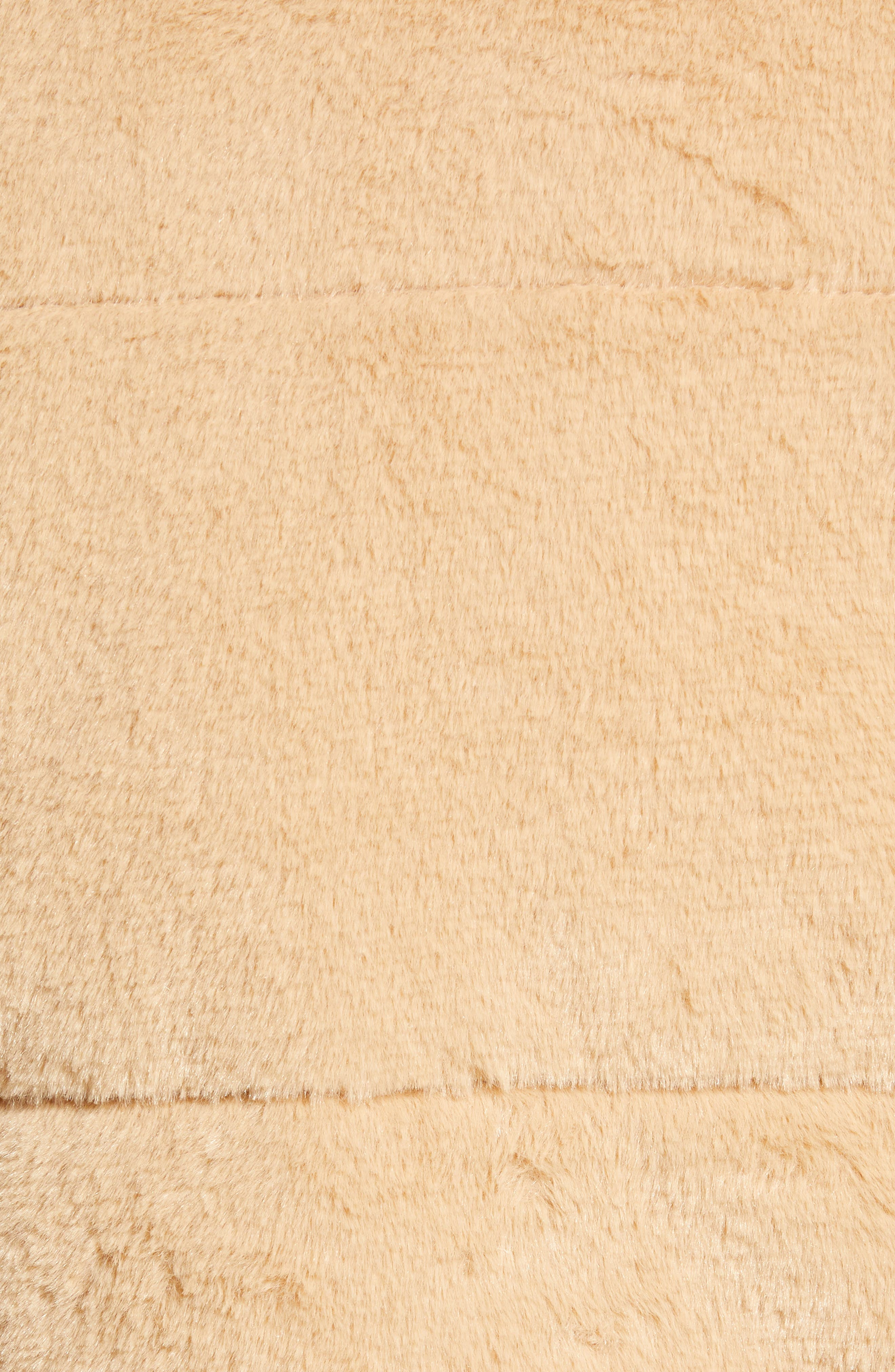 TIGER MIST, Bridget Faux Fur Puffer Jacket, Alternate thumbnail 7, color, 250