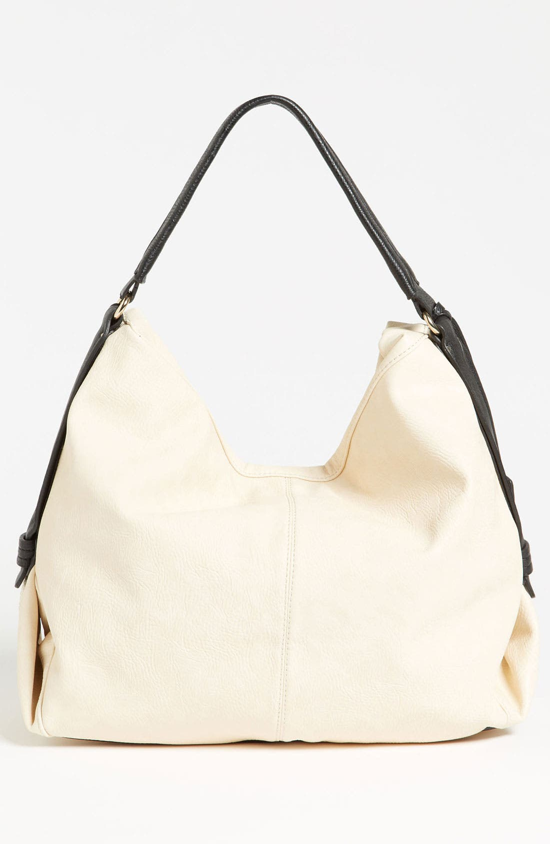 POVERTY FLATS BY RIAN, Perforated Faux Leather Shoulder Bag, Alternate thumbnail 4, color, 001