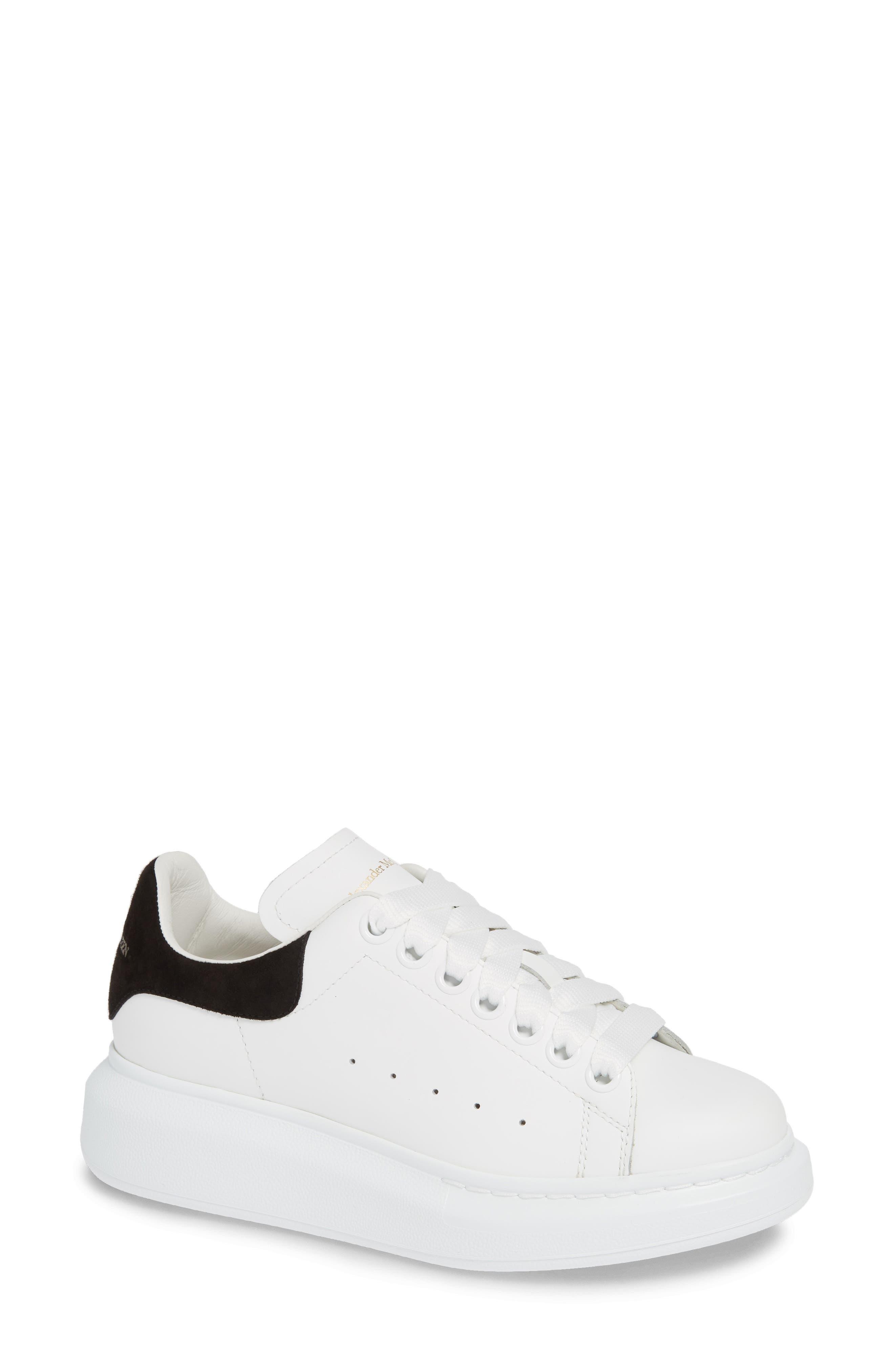 ALEXANDER MCQUEEN, Sneaker, Main thumbnail 1, color, WHITE BLACK