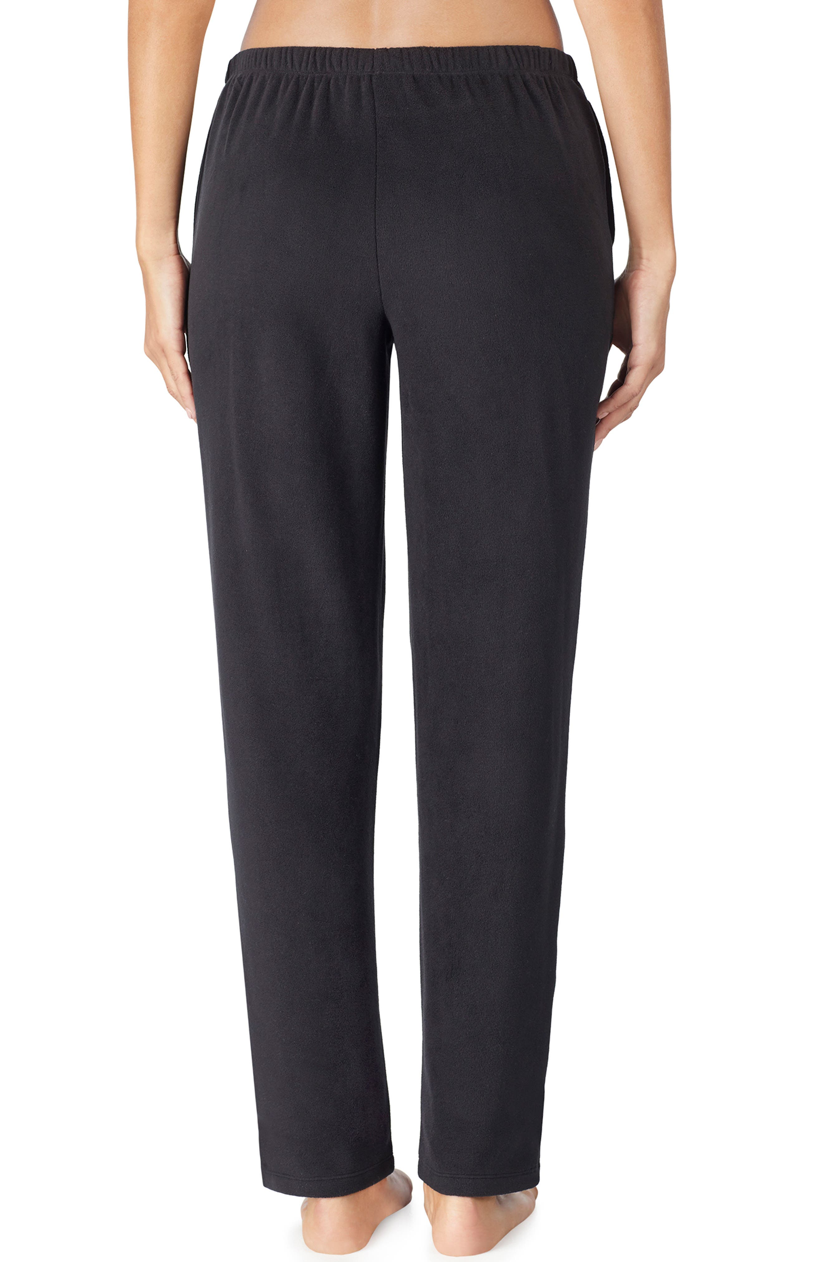LAUREN RALPH LAUREN, Lounge Pants, Alternate thumbnail 2, color, BLACK