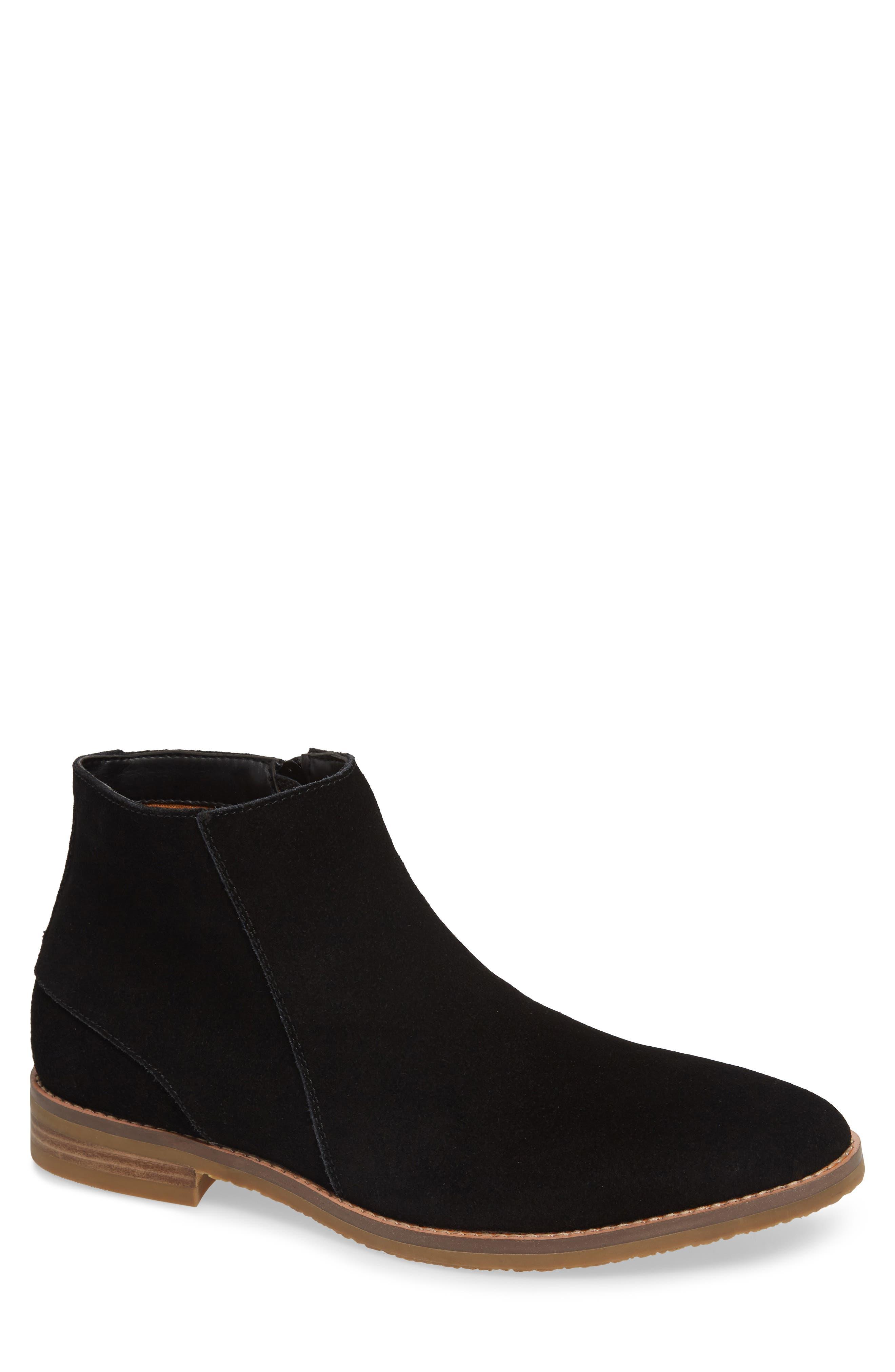 JUMP, Brighton Chelsea Zip Boot, Main thumbnail 1, color, BLACK