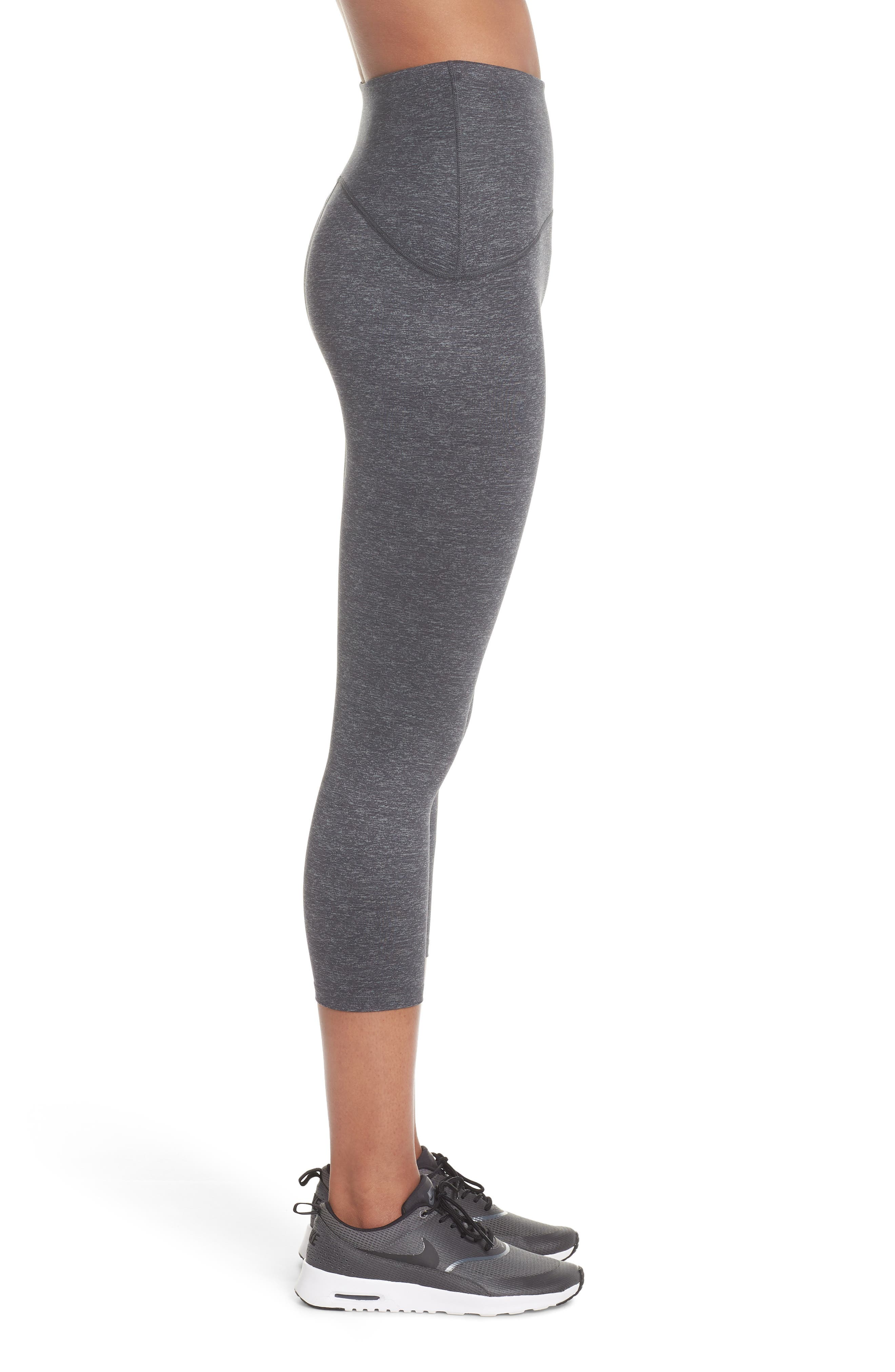 SPANX<SUP>®</SUP>, Active Print Crop Leggings, Alternate thumbnail 4, color, MARLED HEATHER