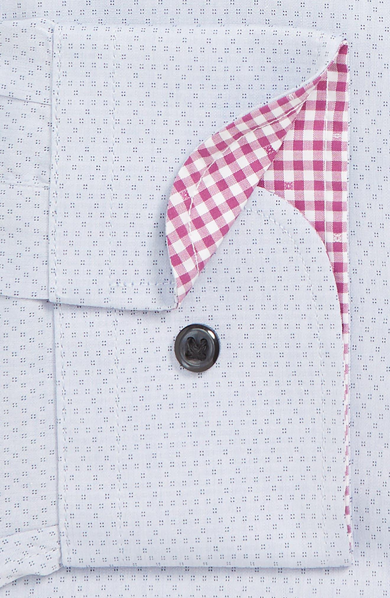 NORDSTROM MEN'S SHOP, Trim Fit Non-Iron Dress Shirt, Alternate thumbnail 2, color, BLUE CAMP
