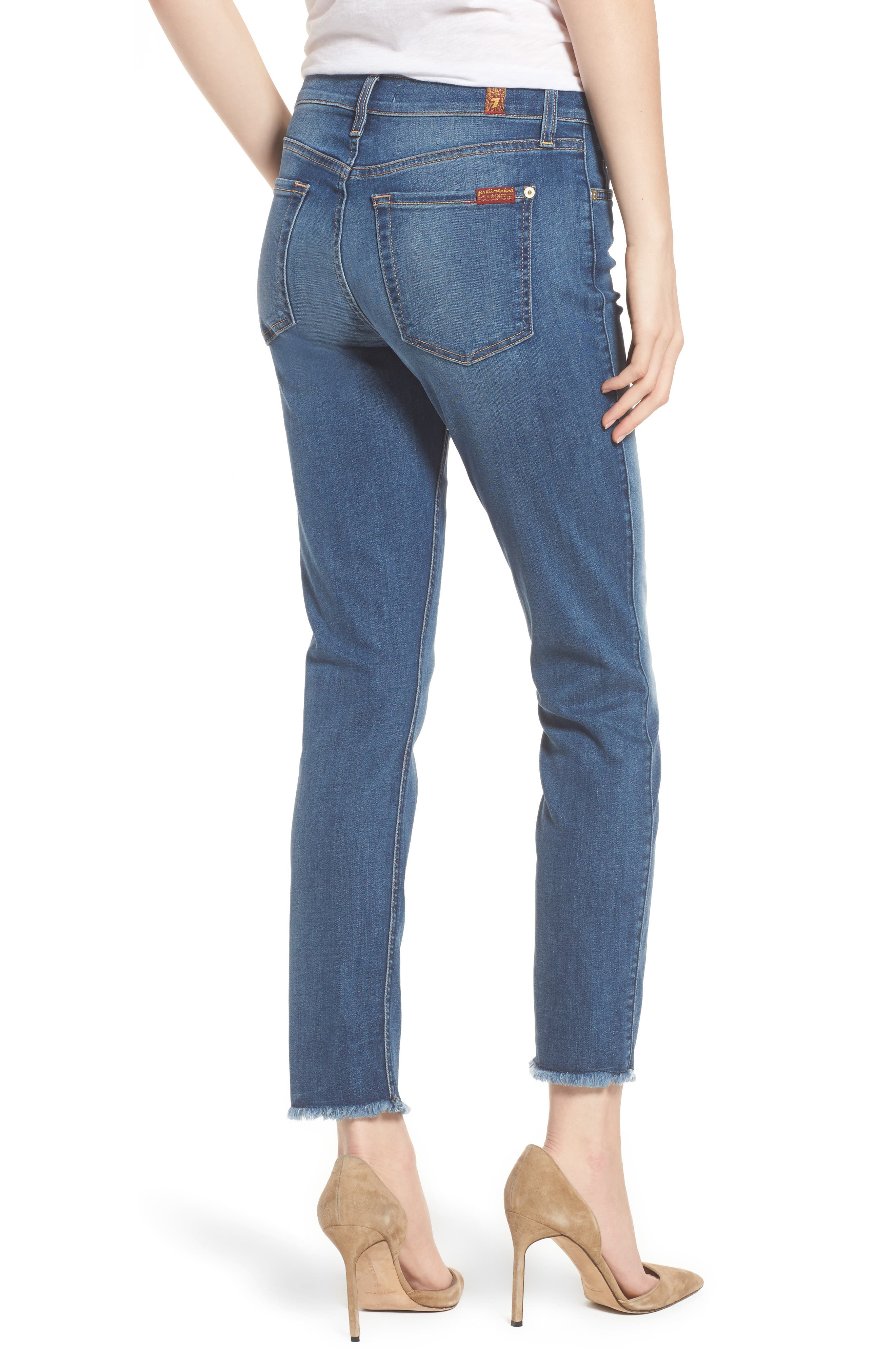 7 FOR ALL MANKIND<SUP>®</SUP>, b(air) Roxanne Ankle Straight Leg Jeans, Alternate thumbnail 2, color, BAIR VINTAGE DUSK