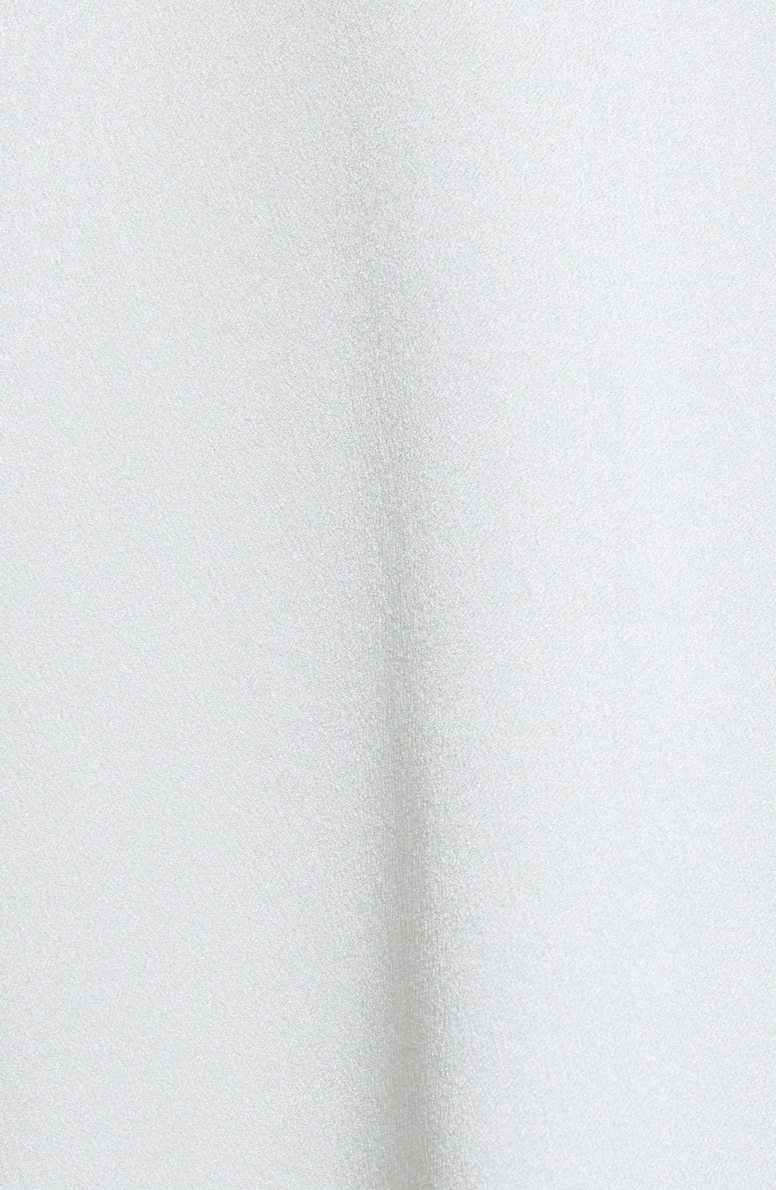 VINCE, Band Collar Silk Blouse, Alternate thumbnail 5, color, CELESTE
