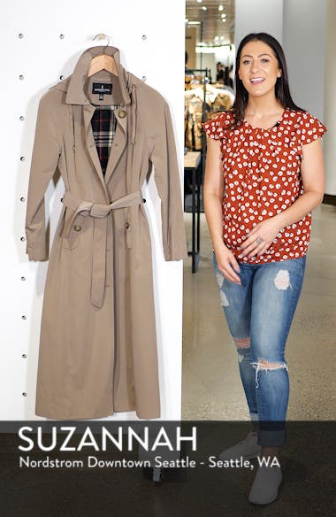 Long Trench Coat with Detachable Hood & Liner, sales video thumbnail