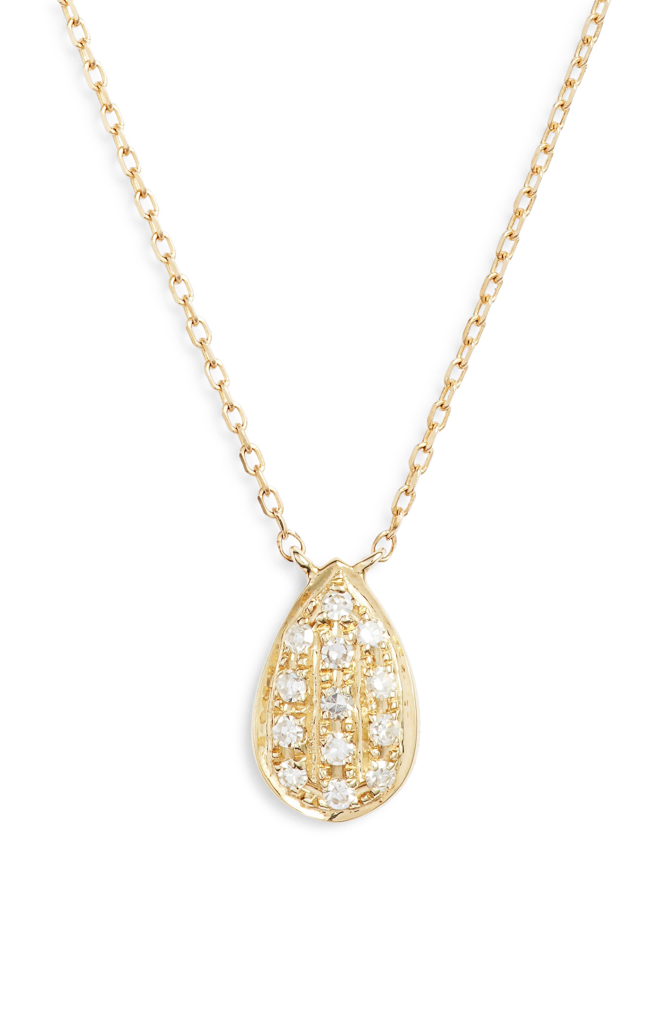DANA REBECCA DESIGNS, Samantha Lynn Diamond Pendant Necklace, Main thumbnail 1, color, 710
