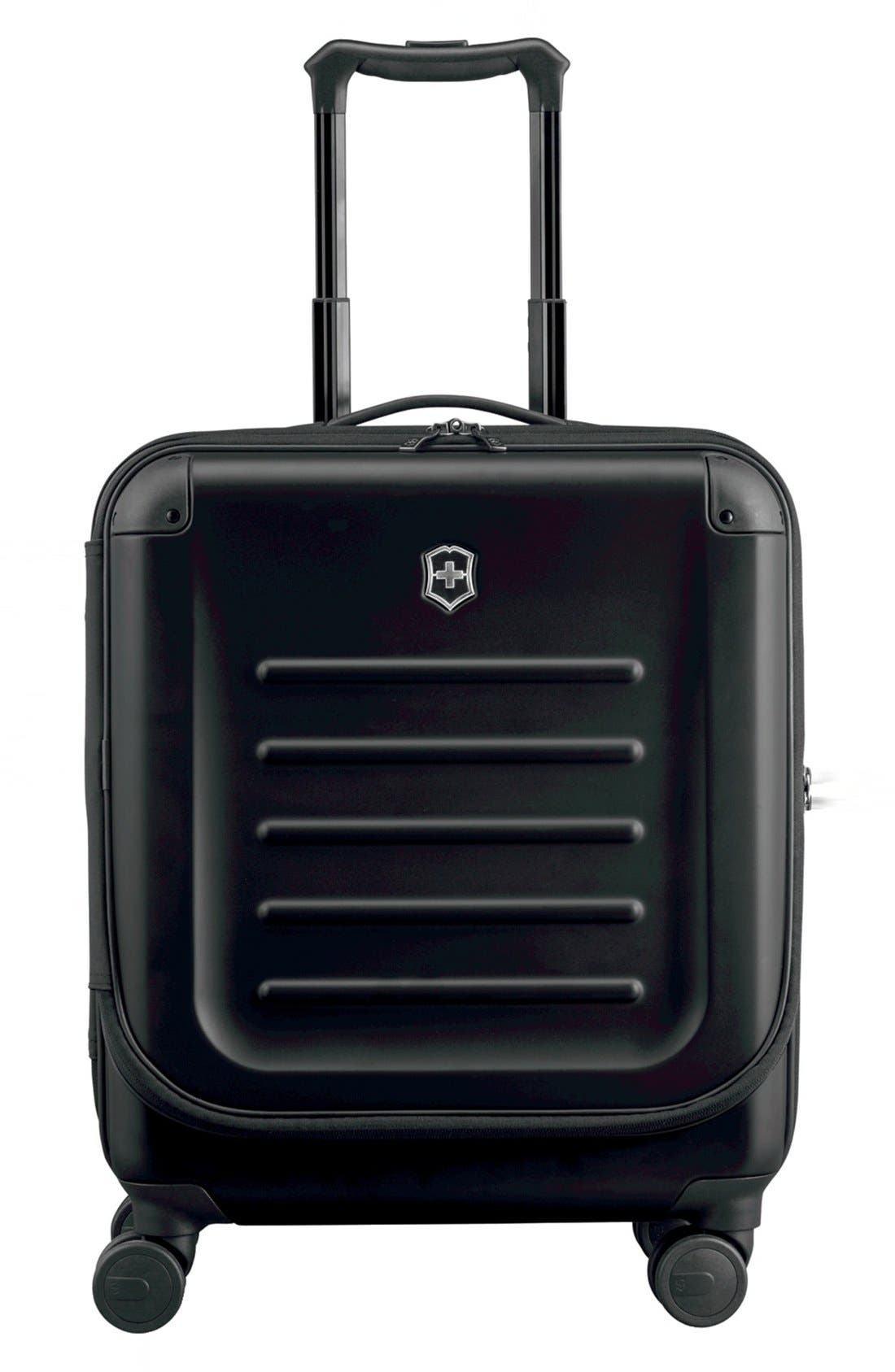 VICTORINOX SWISS ARMY<SUP>®</SUP>, Spectra 2.0 Hard Sided Rolling 22-Inch Carry-On, Main thumbnail 1, color, BLACK