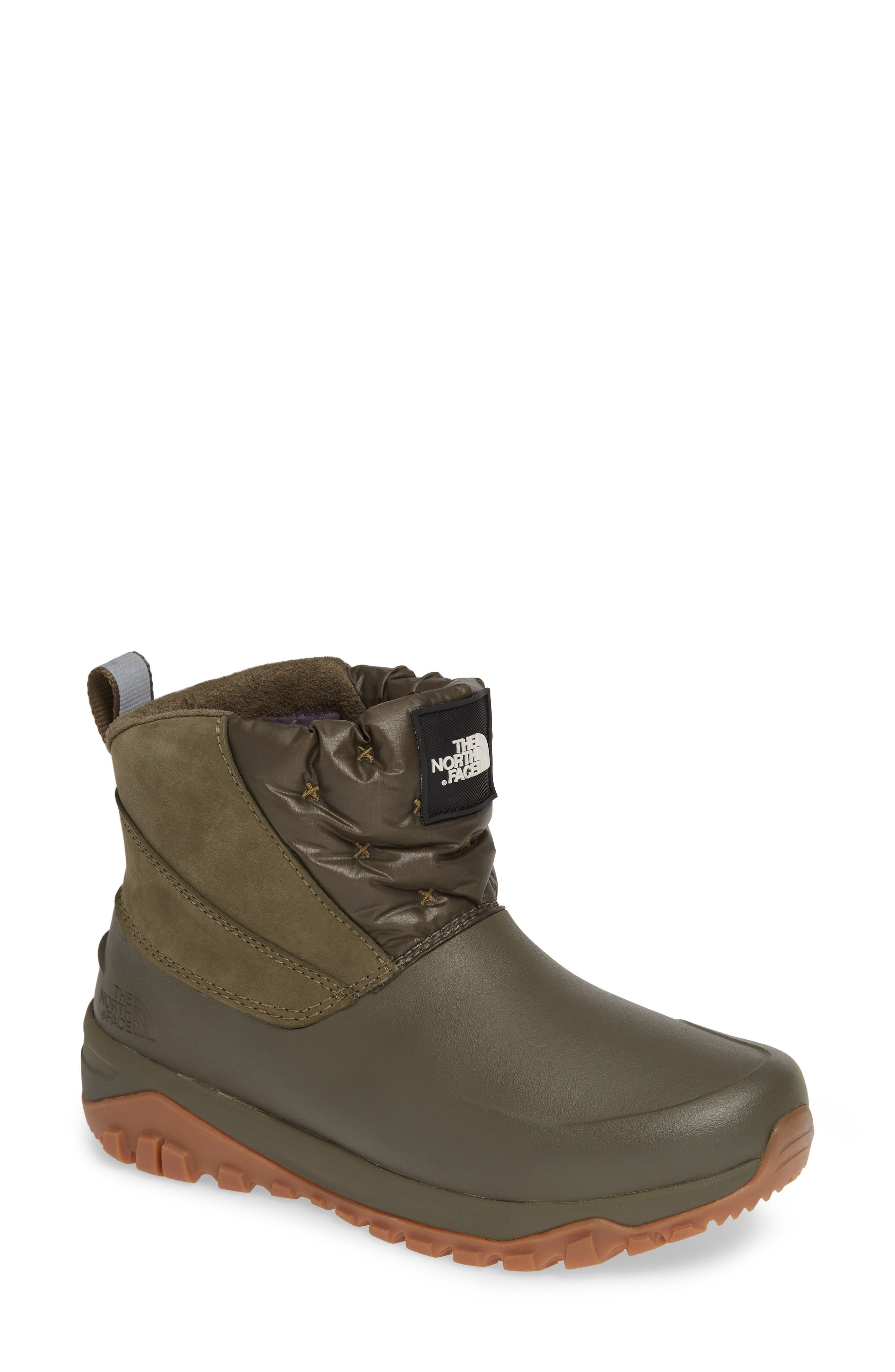 The North Face Yukiona Waterproof Ankle Boot- Green