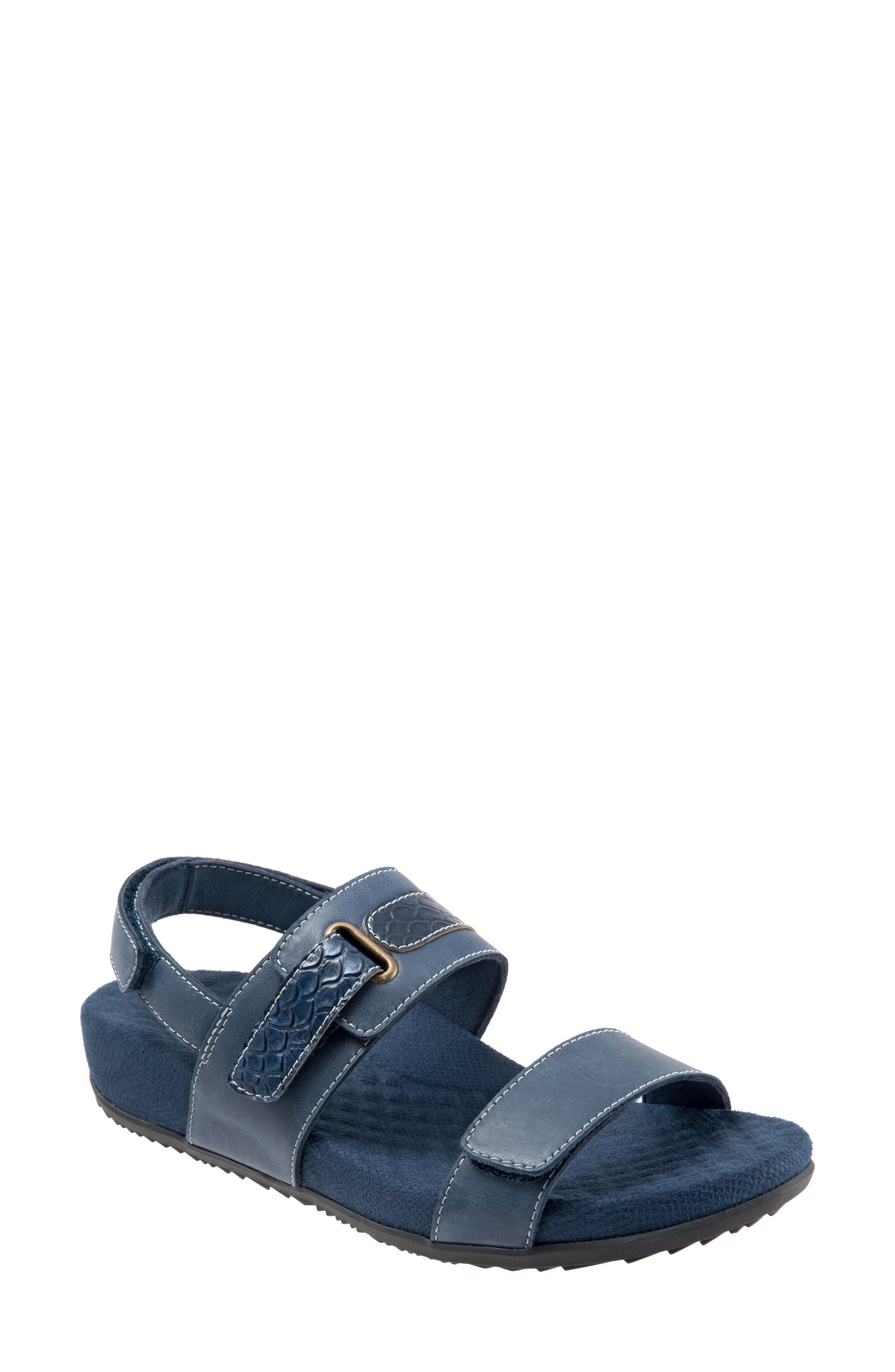 SOFTWALK<SUP>®</SUP>, Bimmer Sandal, Main thumbnail 1, color, NAVY LEATHER