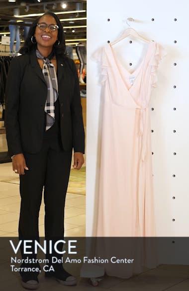 Ruffle Sleeve Chiffon Wrap Evening Dress, sales video thumbnail