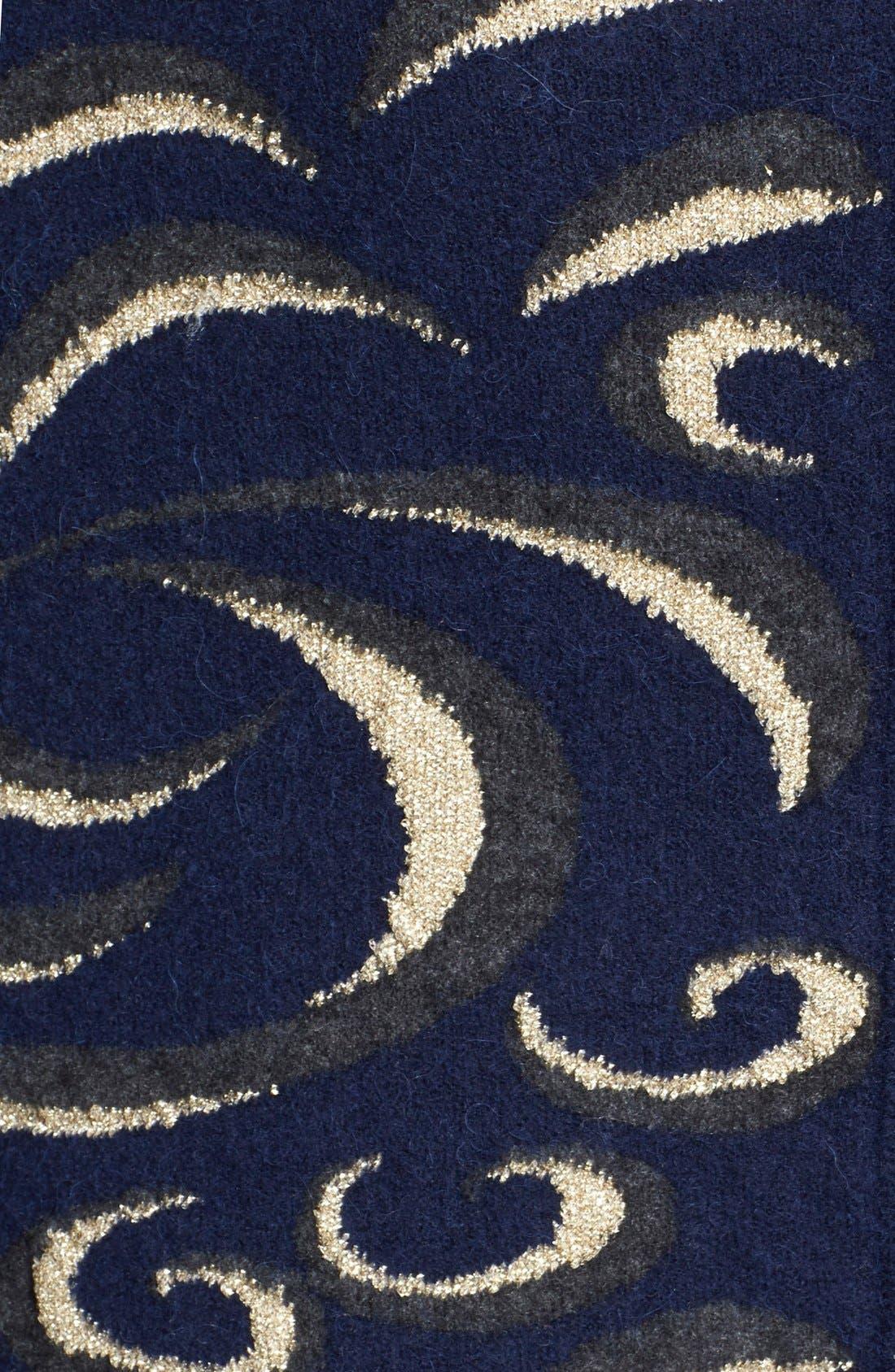 DIANE VON FURSTENBERG, 'Katarina' Oversize Knit Pullover, Alternate thumbnail 3, color, 400