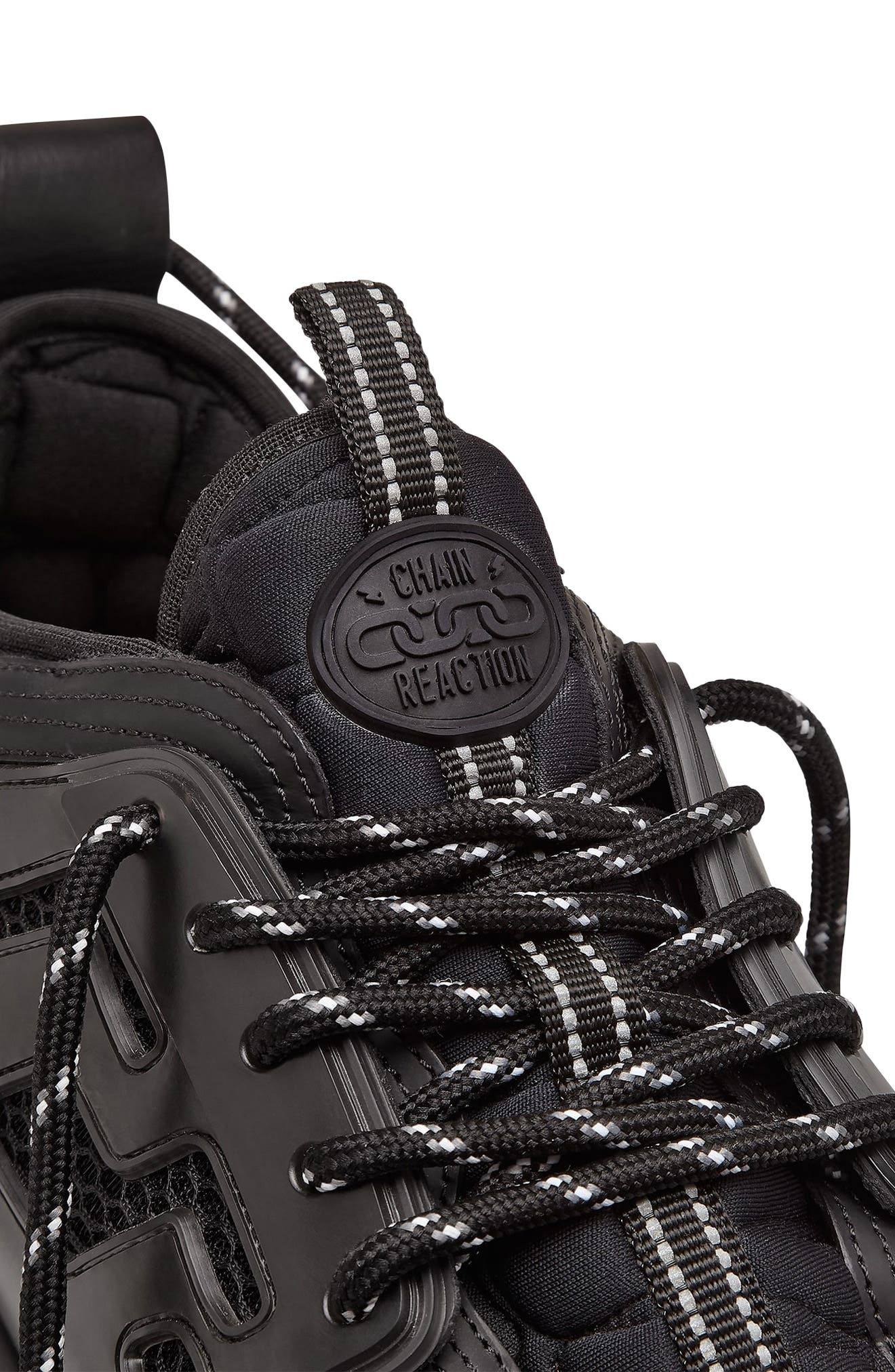VERSACE FIRST LINE, Versace Chain Reaction Sneaker, Alternate thumbnail 5, color, NERO