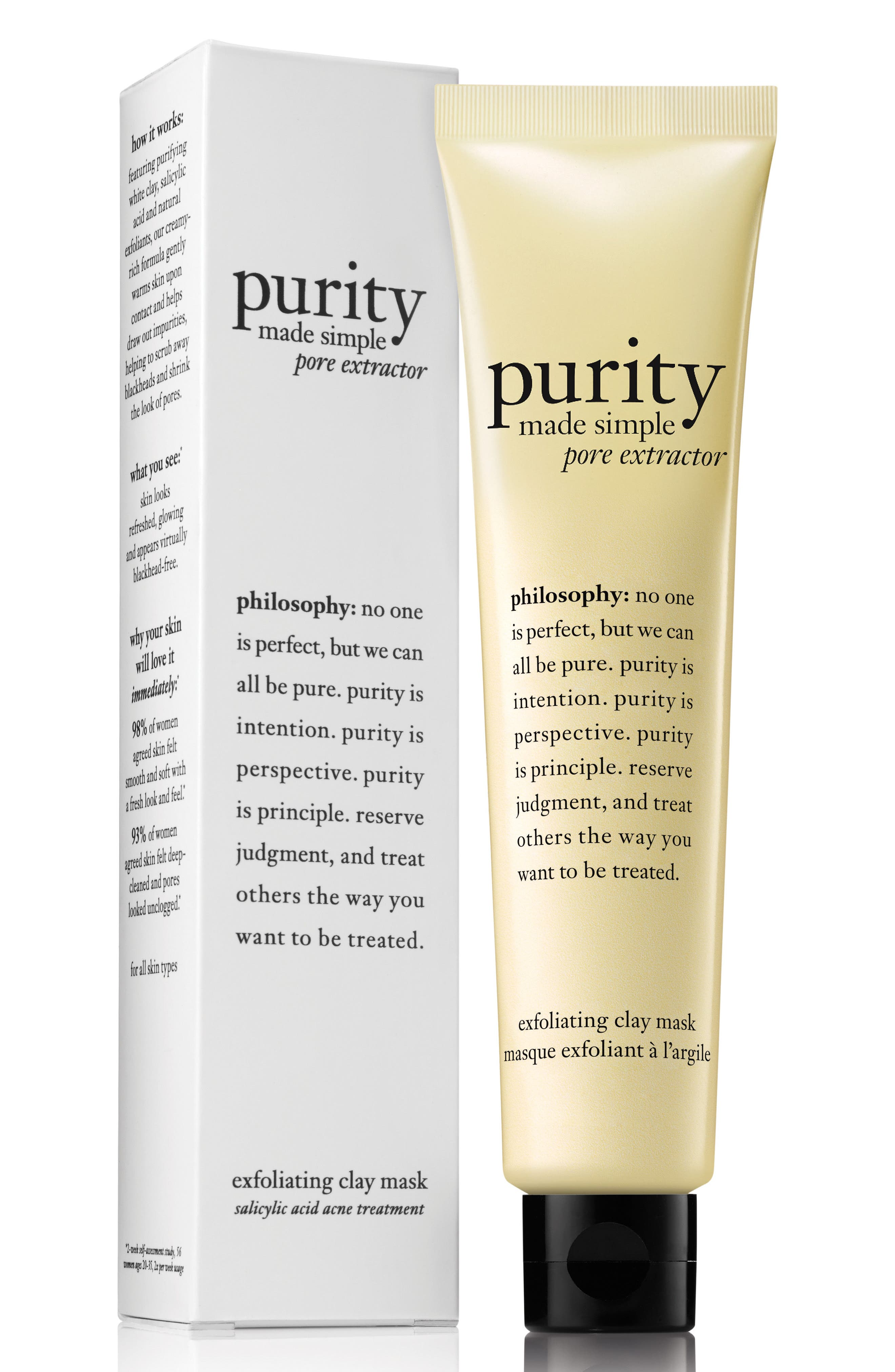 PHILOSOPHY, purity made simple pore extractor mask, Main thumbnail 1, color, NO COLOR