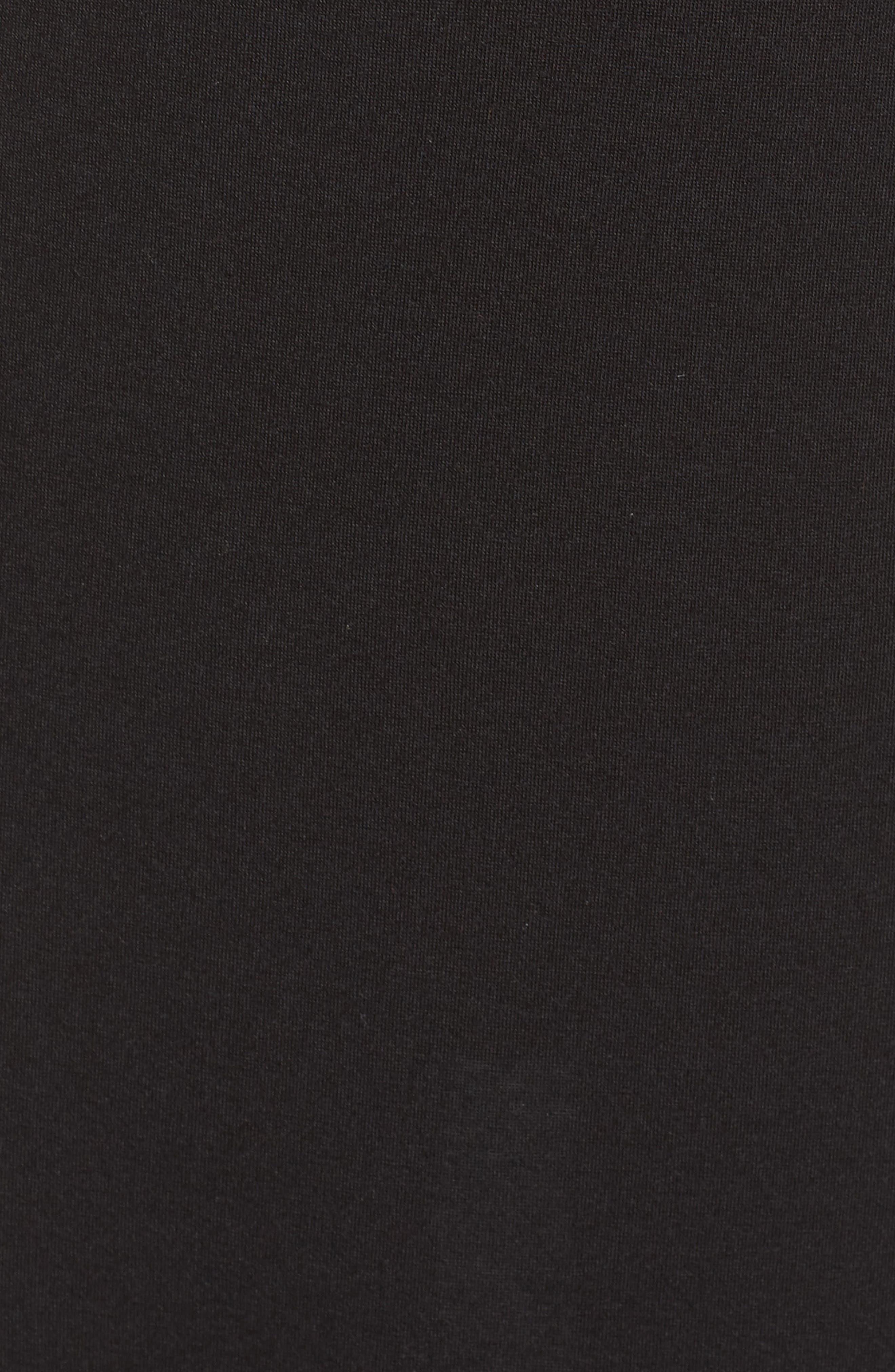 NATORI, Shangri La Nightgown, Alternate thumbnail 5, color, BLACK