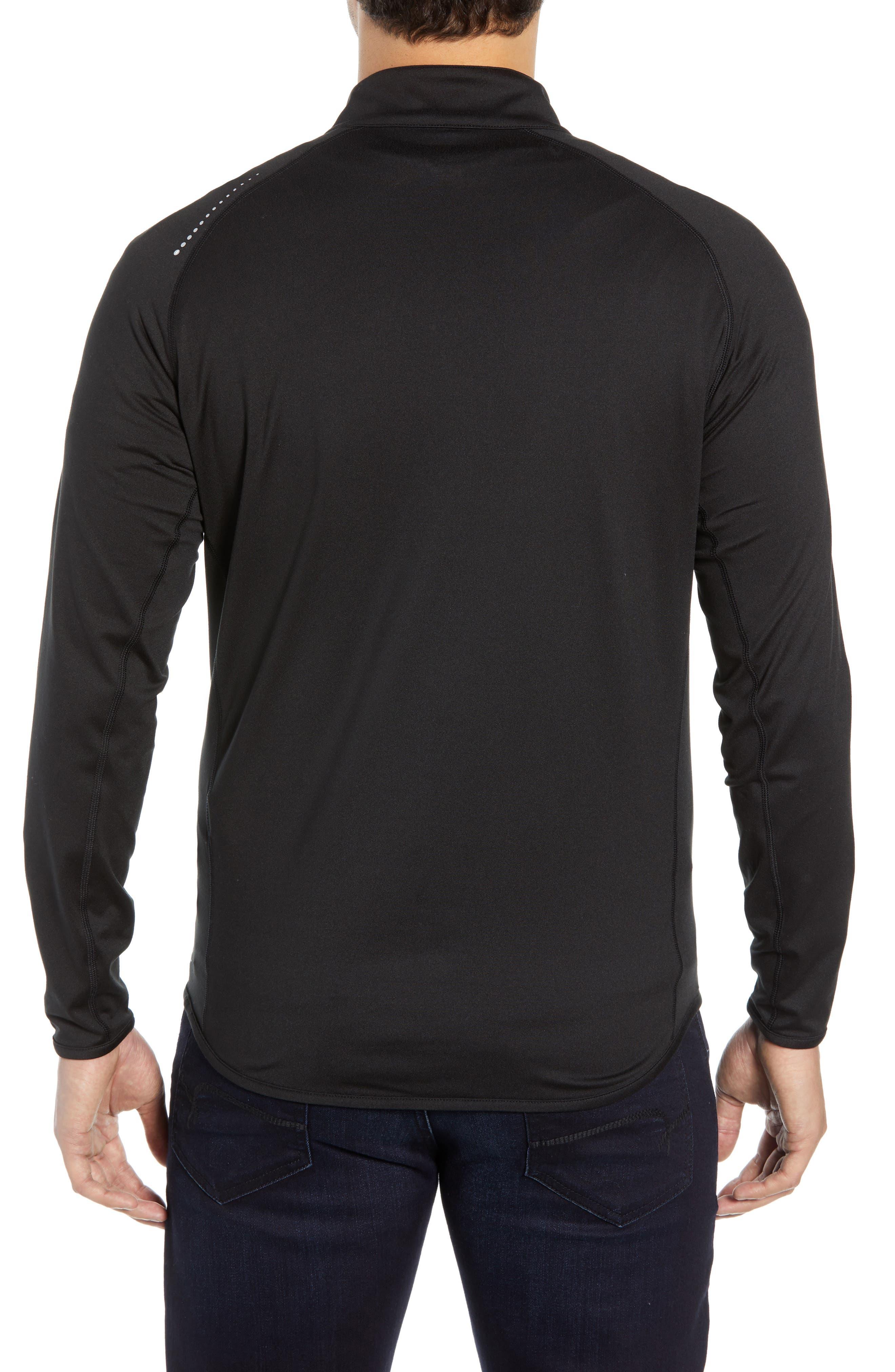 PETER MILLAR, Sydney Quarter Zip Tech Pullover, Alternate thumbnail 2, color, BLACK
