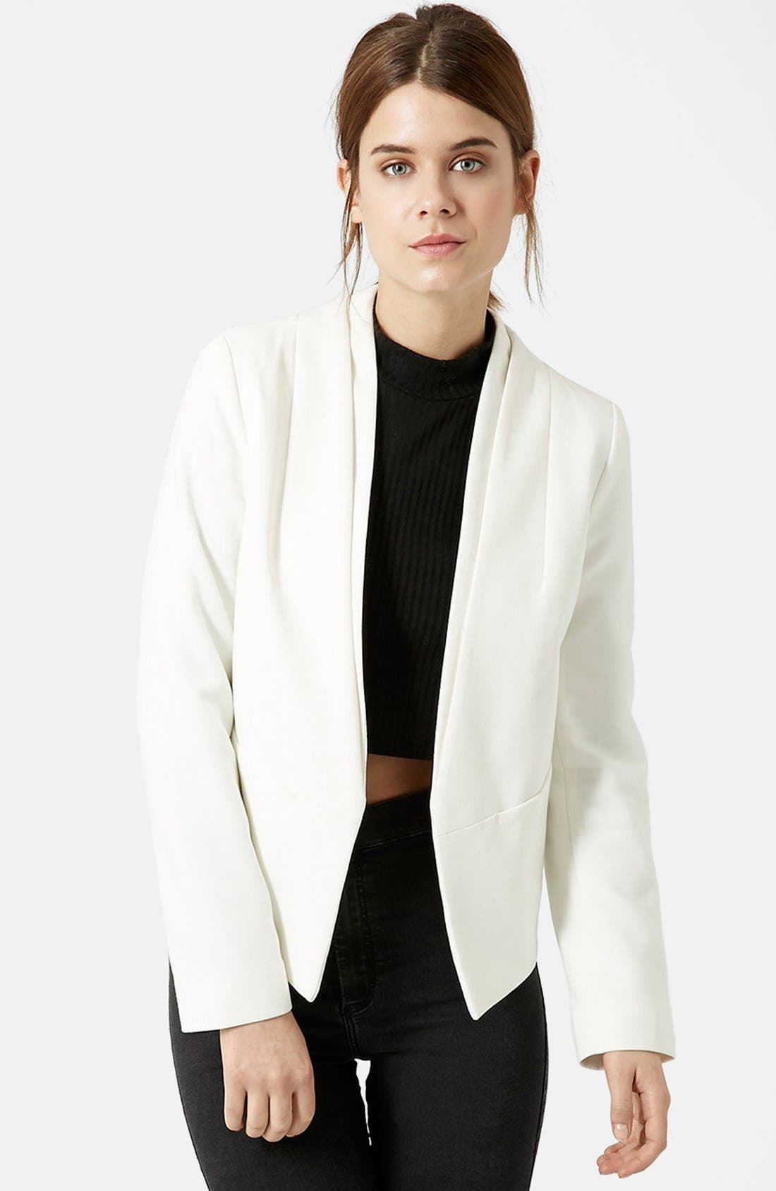TOPSHOP 'Poppy' Double Collar Blazer, Main, color, 900
