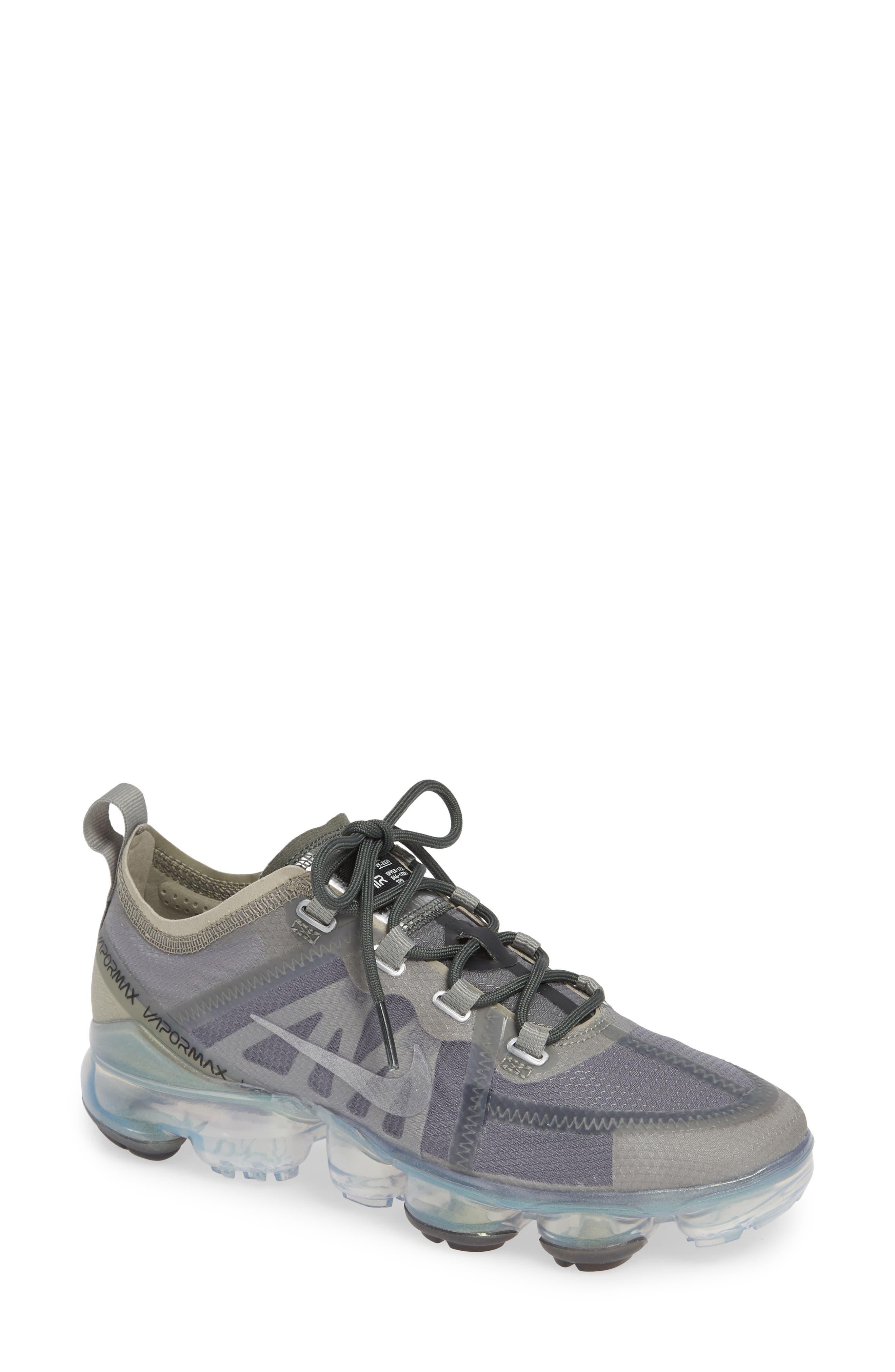 NIKE, Air VaporMax 2019 Running Shoe, Main thumbnail 1, color, MINERAL SPRUCE/ SILVER
