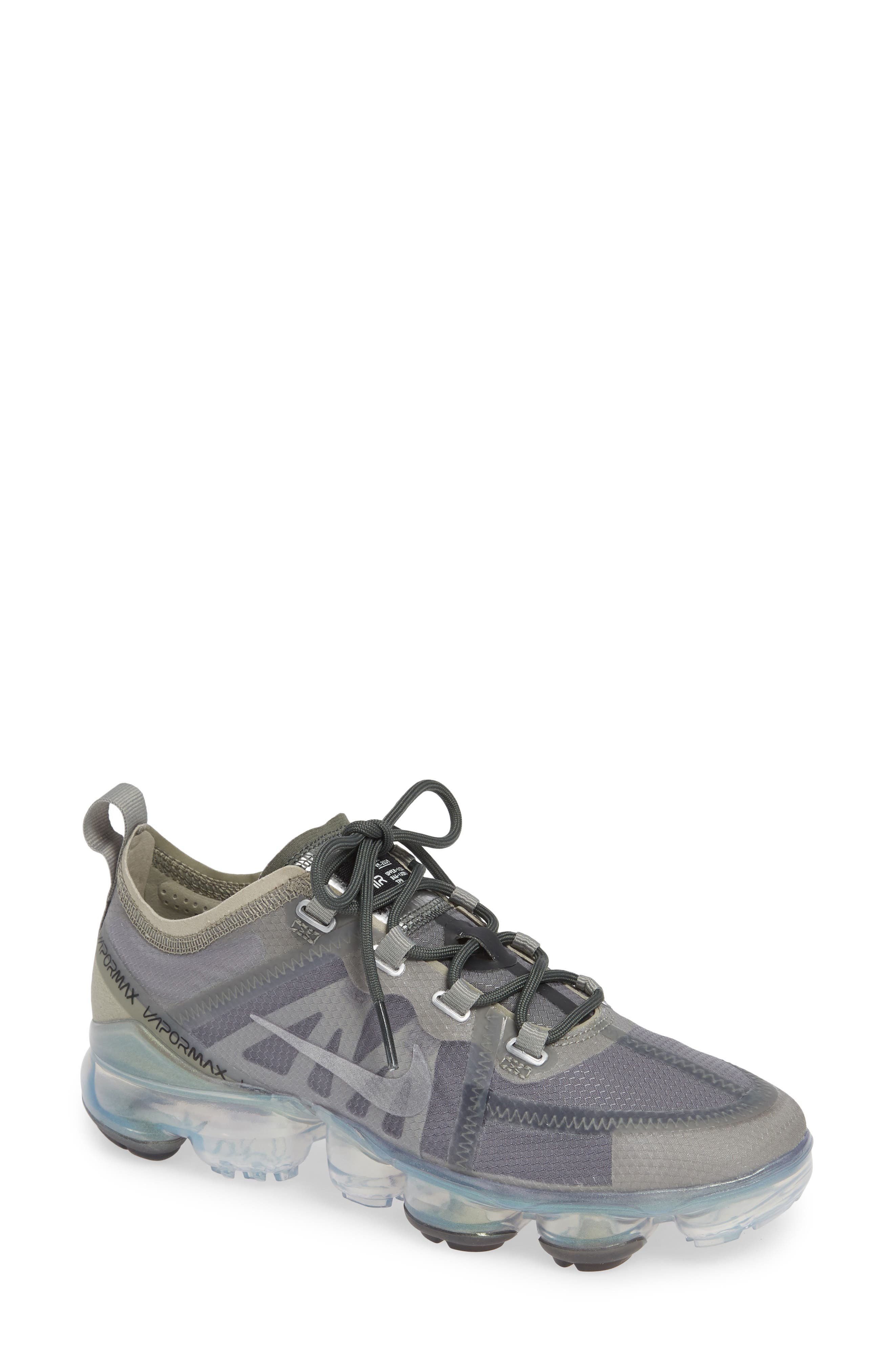 NIKE Air VaporMax 2019 Running Shoe, Main, color, MINERAL SPRUCE/ SILVER