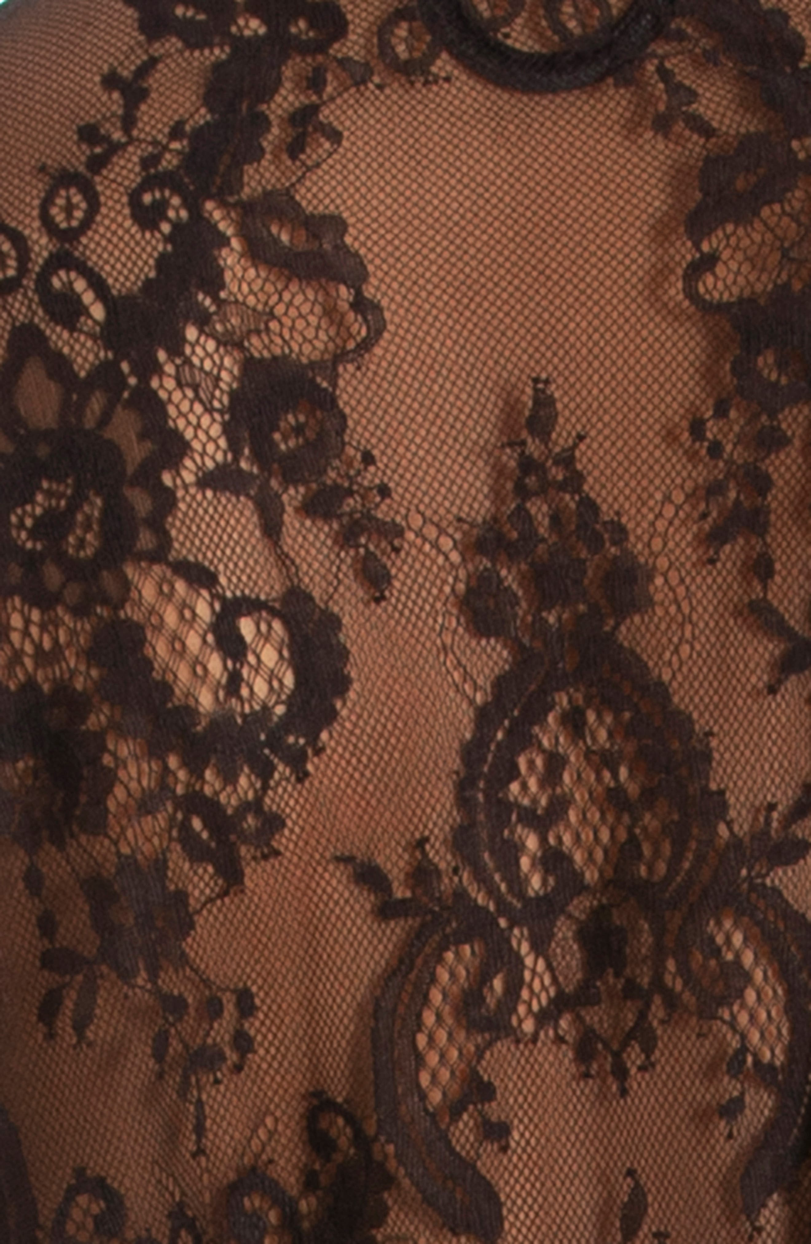 IN BLOOM BY JONQUIL, Lace Wrap, Alternate thumbnail 4, color, BLACK