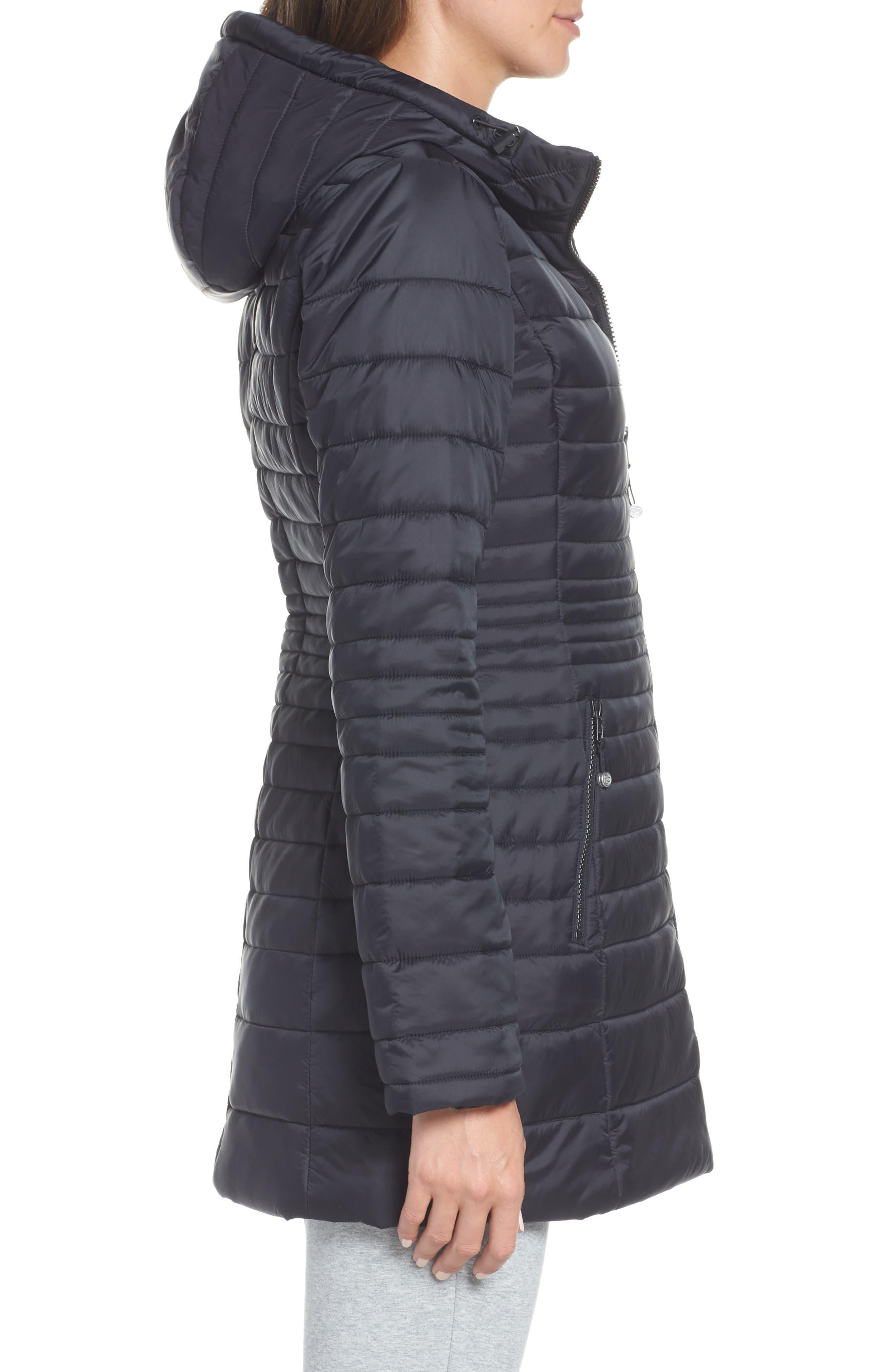 ZELLA, City Dweller Water Resistant Puffer Jacket, Alternate thumbnail 4, color, 001