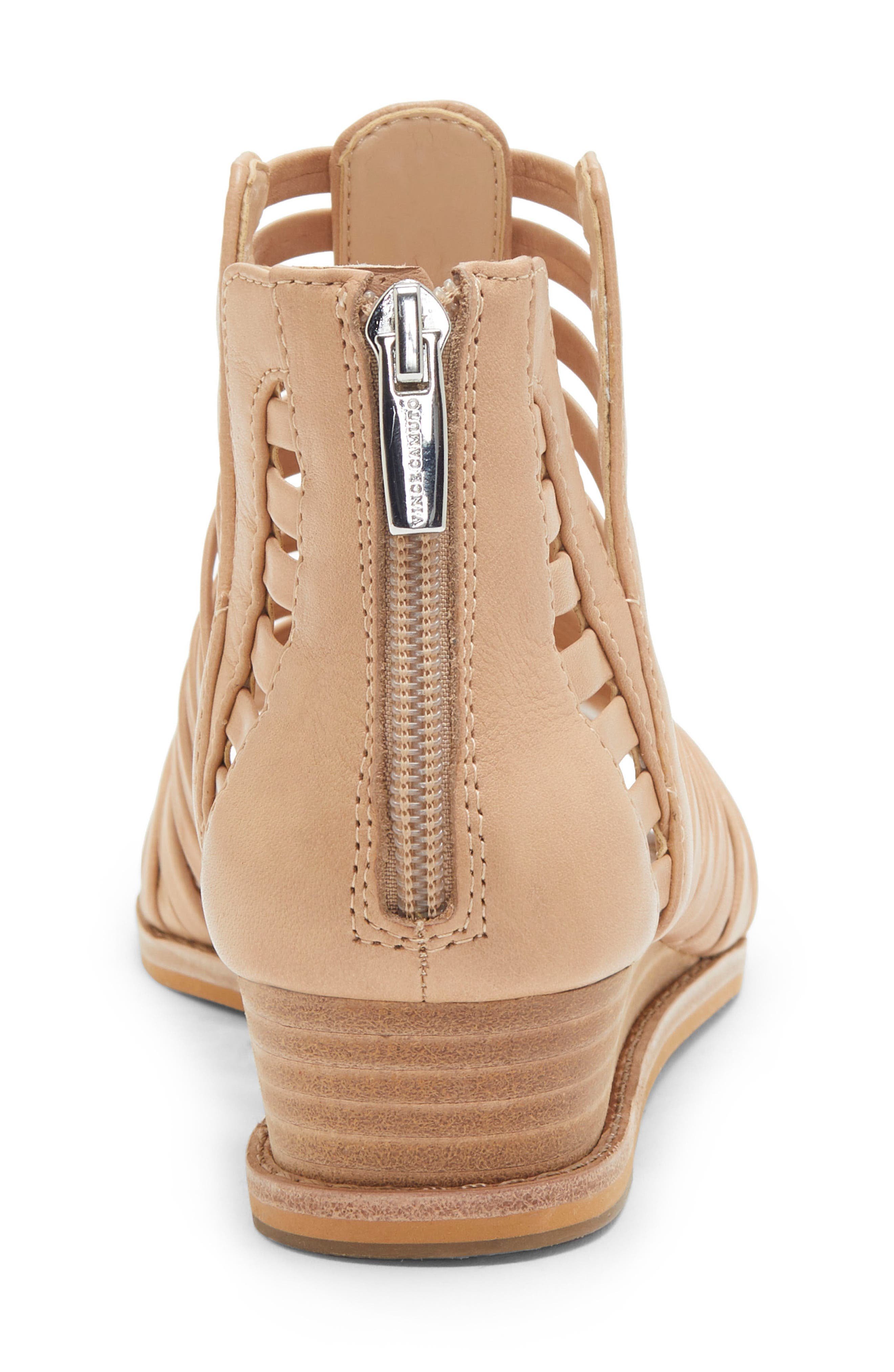 VINCE CAMUTO, Revey Wedge Sandal, Alternate thumbnail 7, color, NATURAL LEATHER