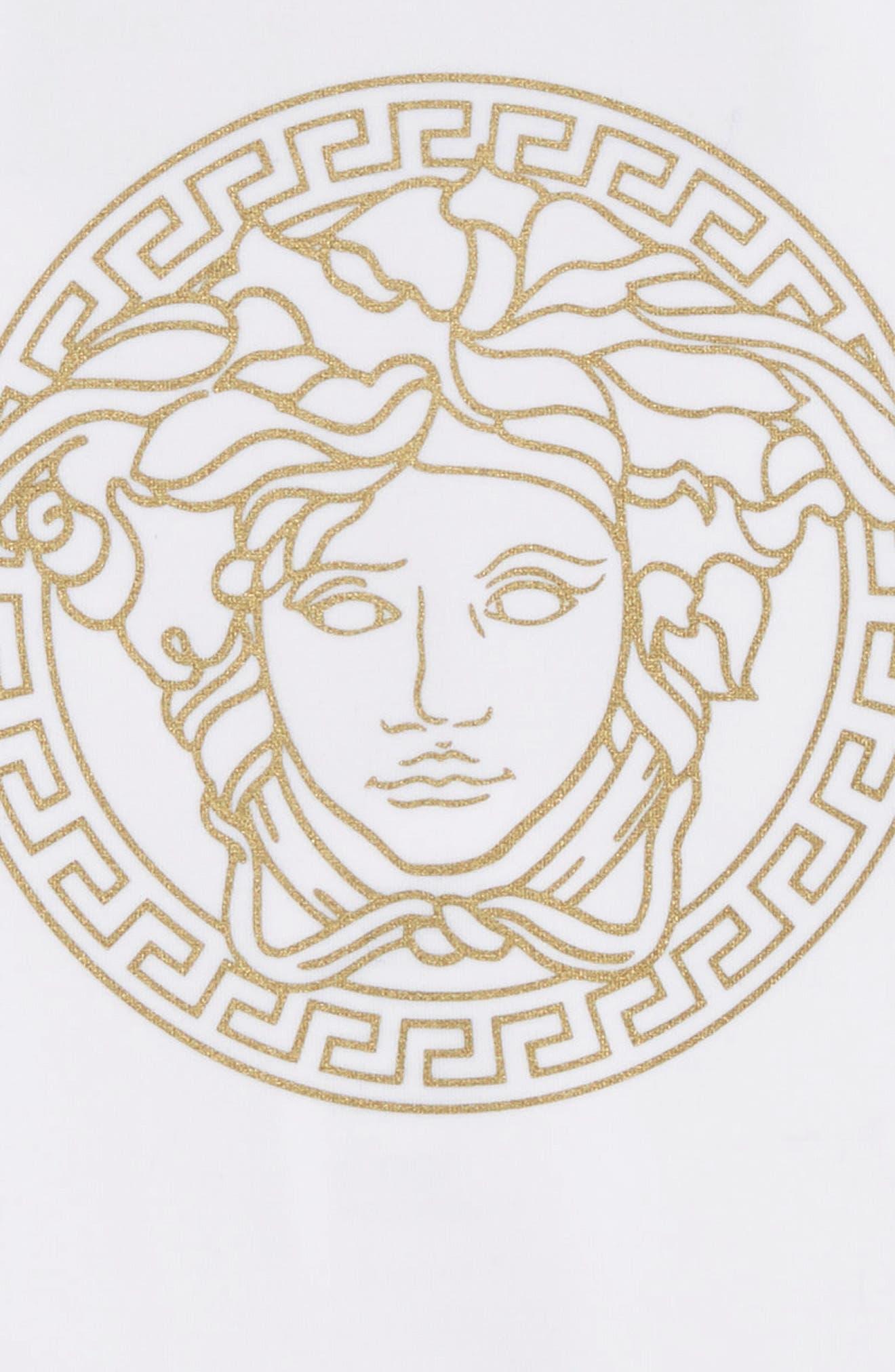 VERSACE, Medusa One-Piece Swimsuit, Alternate thumbnail 3, color, 4915 WHITE GOLD