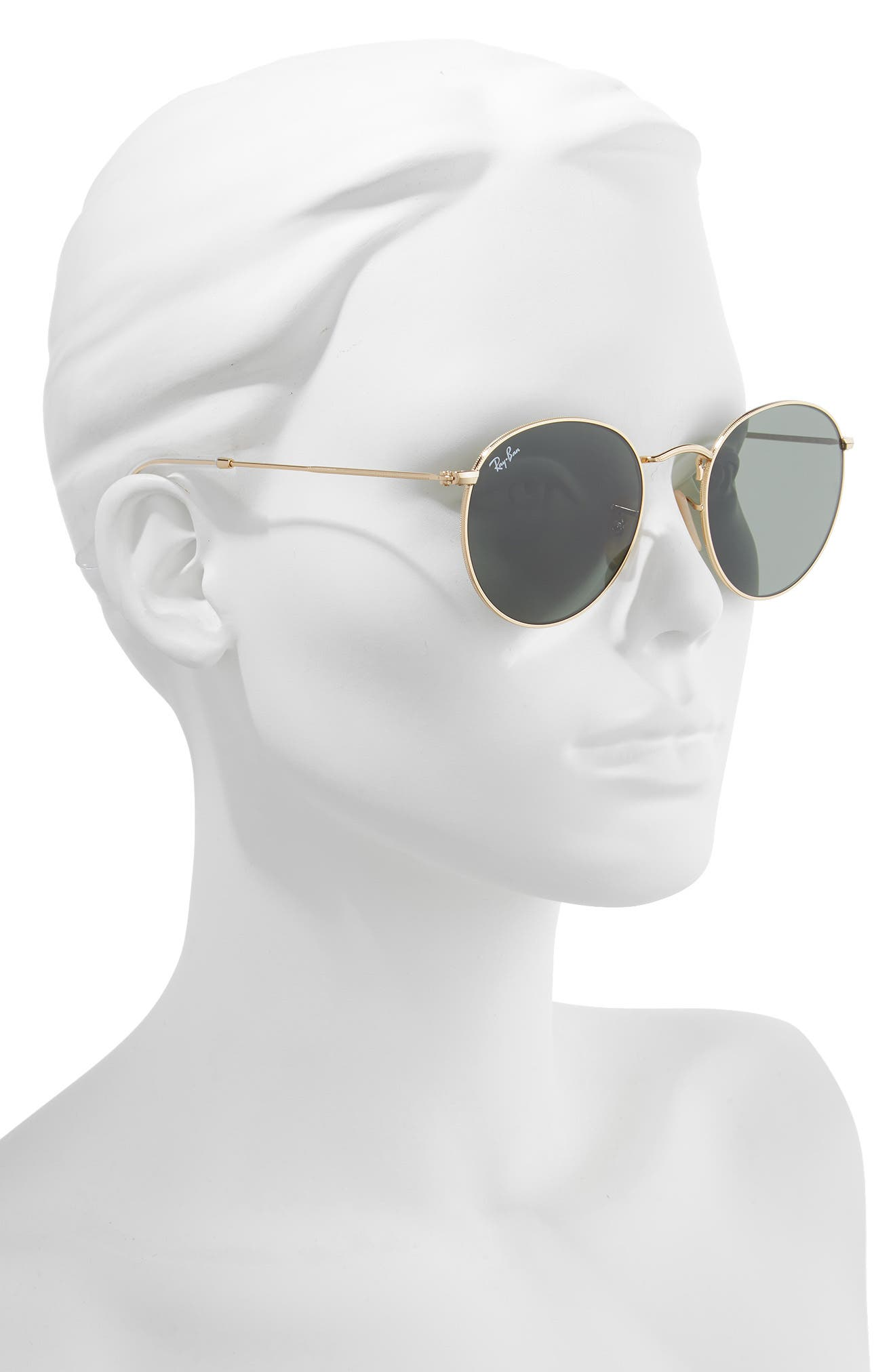 RAY-BAN, 53mm Round Sunglasses, Alternate thumbnail 2, color, 710