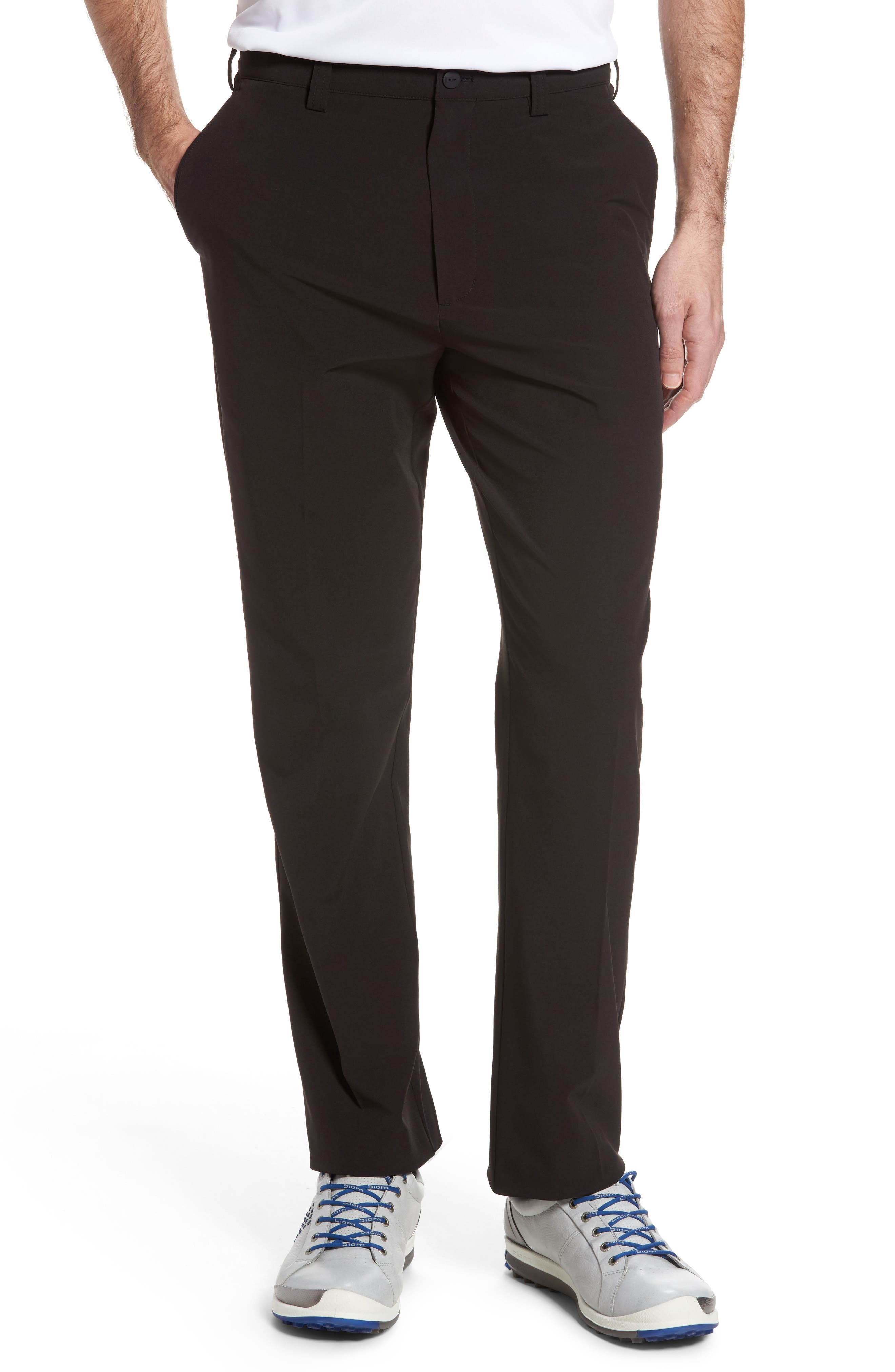 CUTTER & BUCK DryTec Chinos, Main, color, BLACK