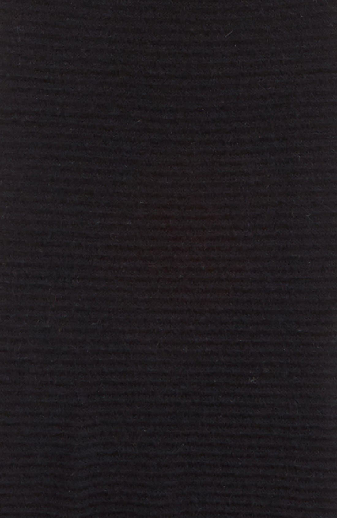 HALOGEN<SUP>®</SUP>, Ribbed Cashmere Muffler, Alternate thumbnail 3, color, 001