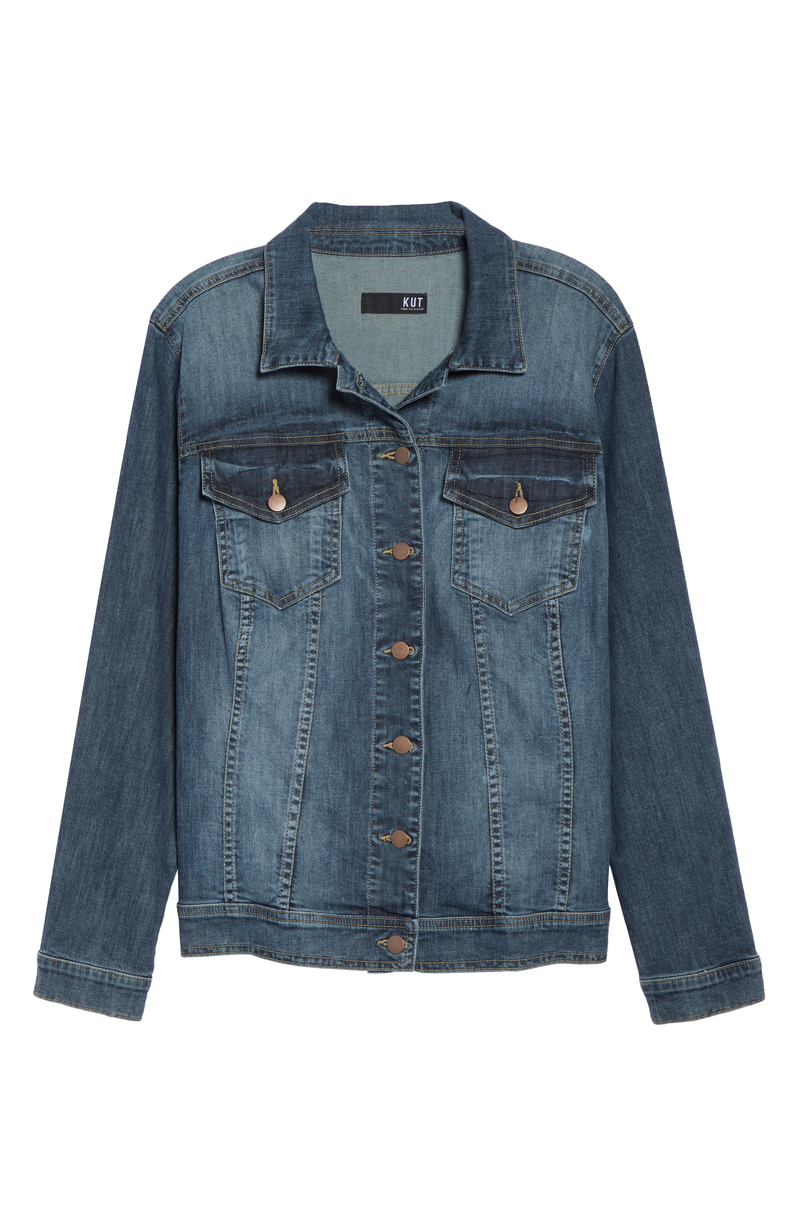 KUT FROM THE KLOTH, Helena Jean Jacket, Alternate thumbnail 6, color, LIBERAL