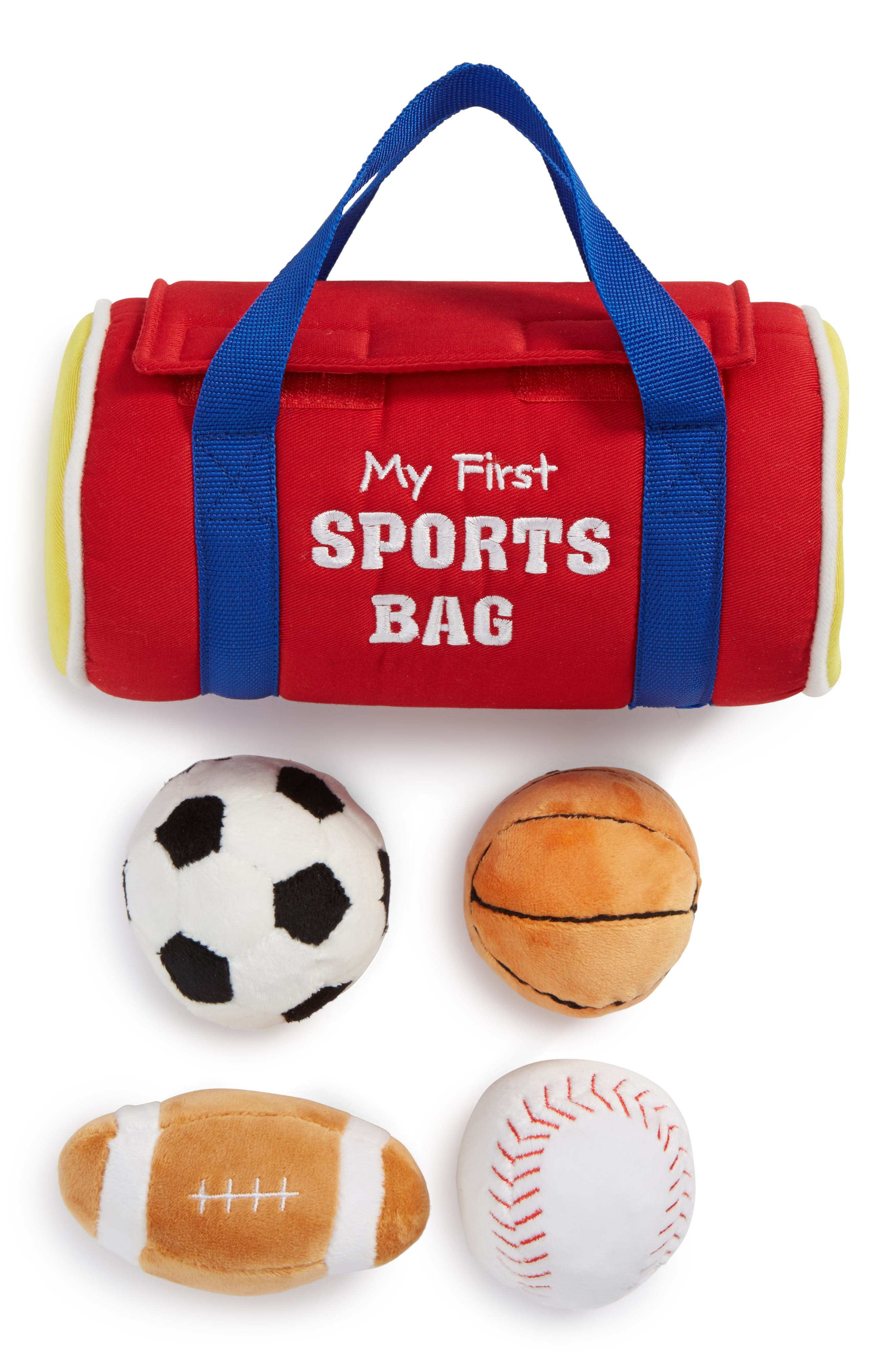 GUND, Baby Gund 'My First Sports Bag' Play Set, Alternate thumbnail 2, color, RED